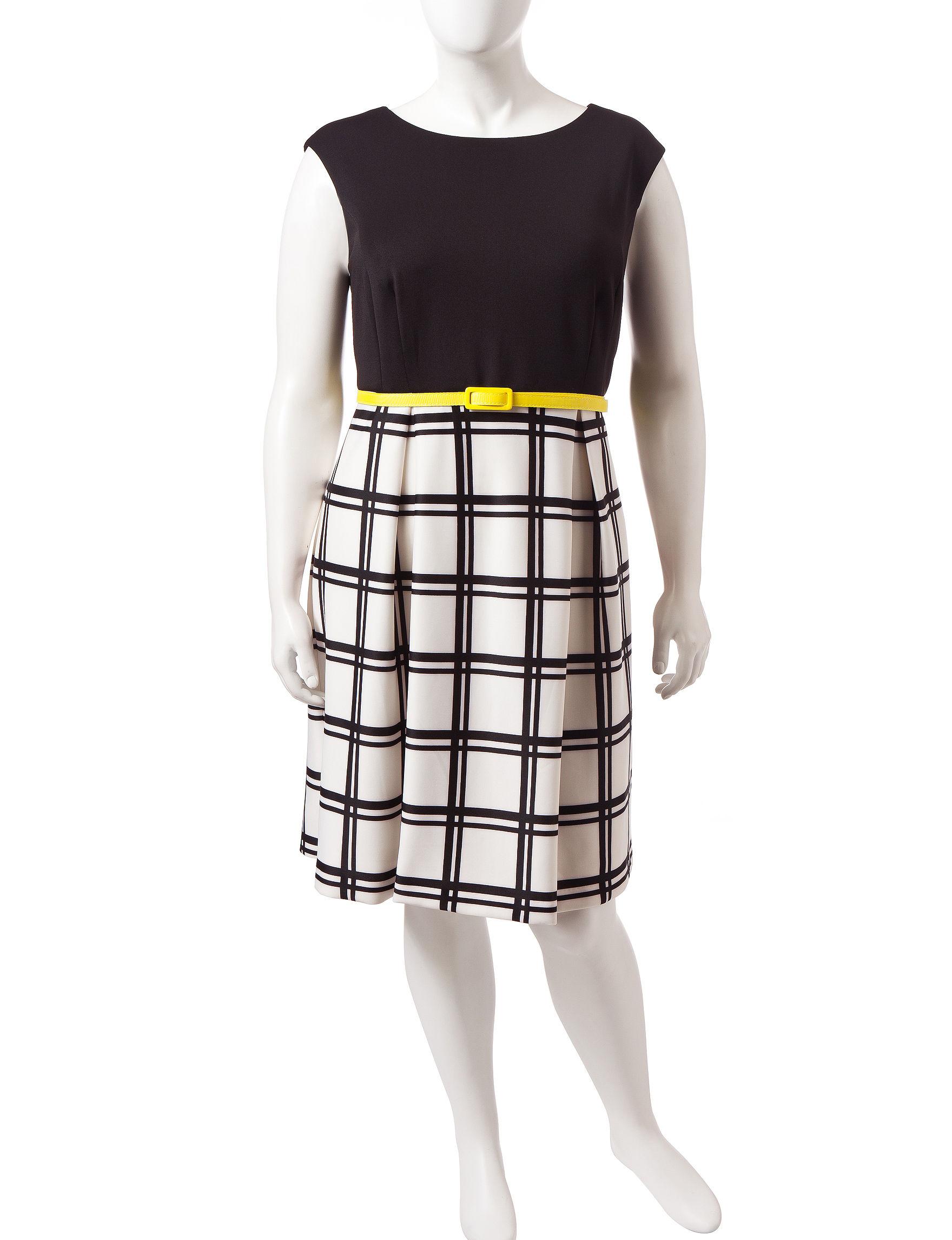 Sandra Darren Black /  White Everyday & Casual Shift Dresses