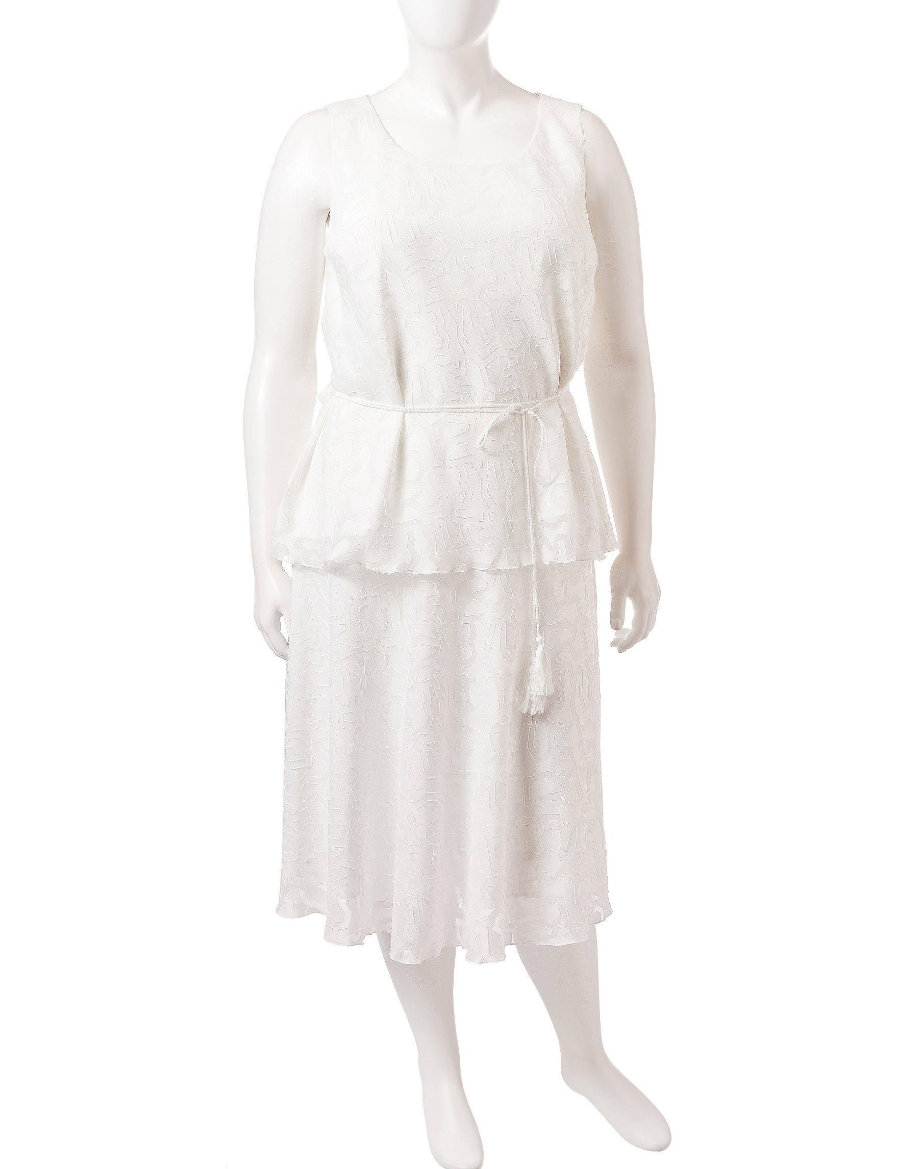 Glamour Cream Everyday & Casual Shift Dresses