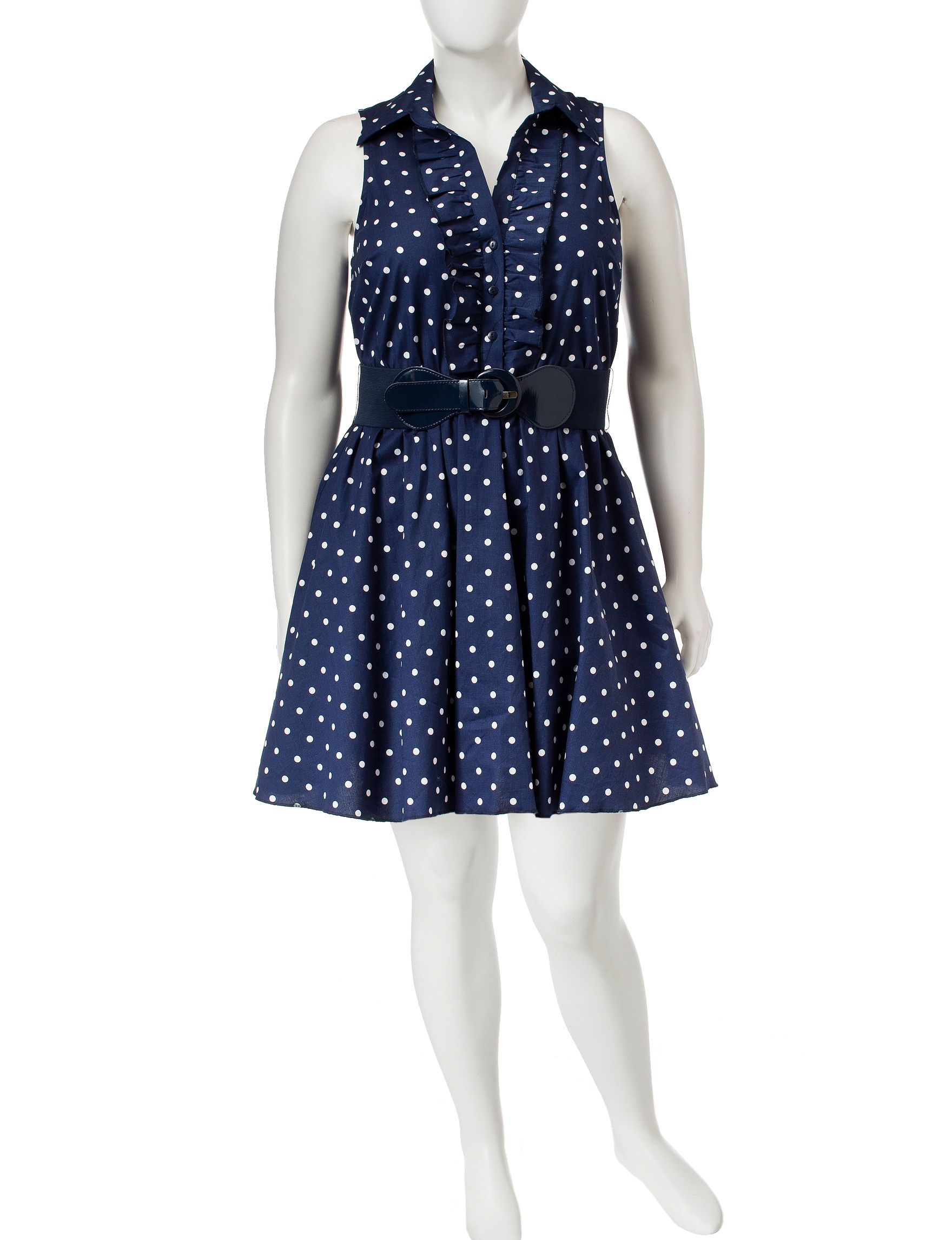 Bailey Blue Navy / White Fit & Flare Dresses