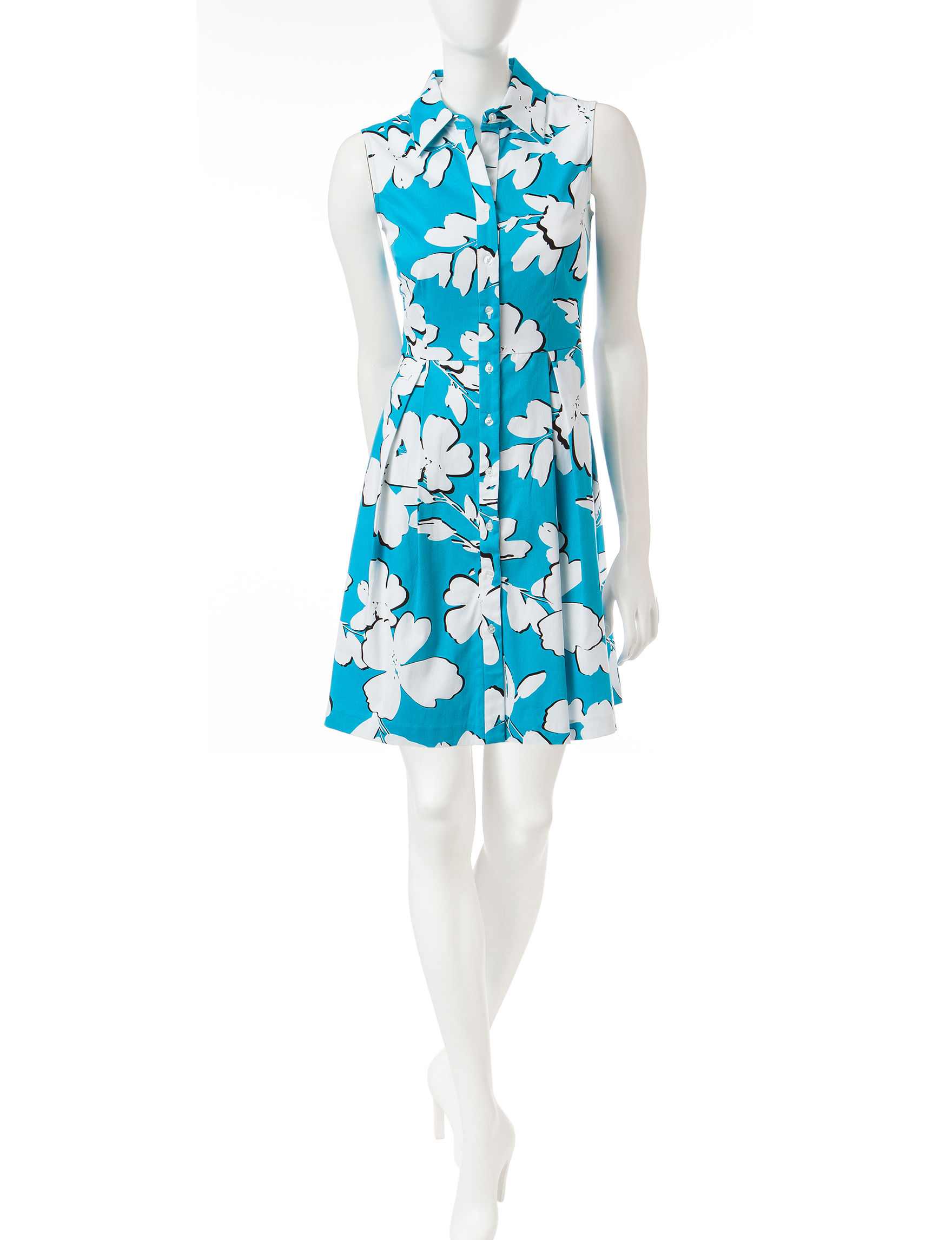 Studio One Turquoise Everyday & Casual Sundresses