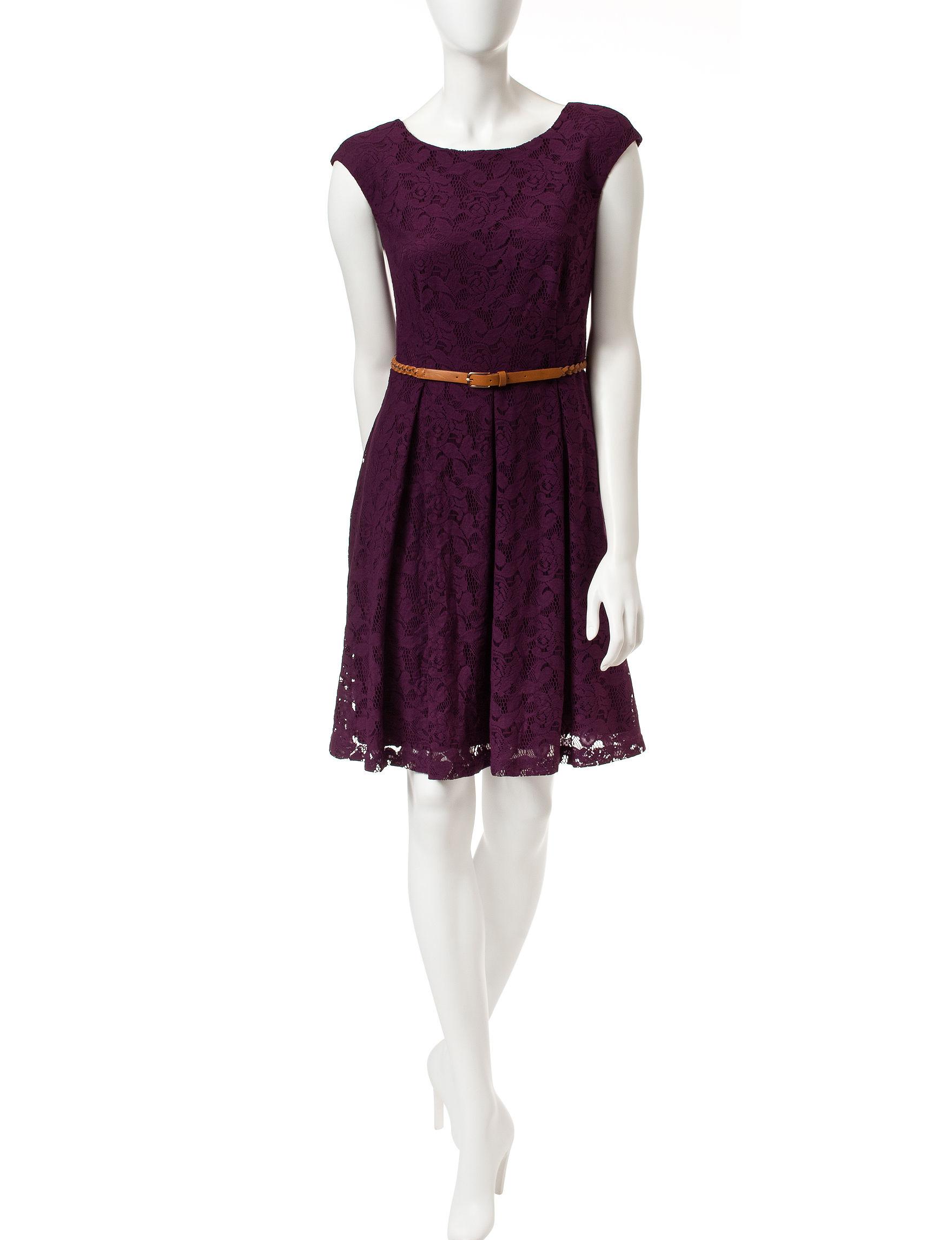 Connected Medium Purple A-line Dresses
