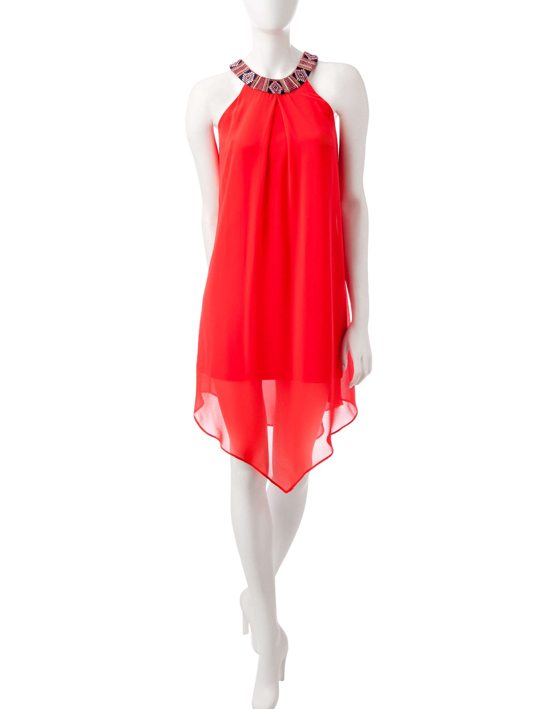 A. Byer Orange Everyday & Casual Shift Dresses