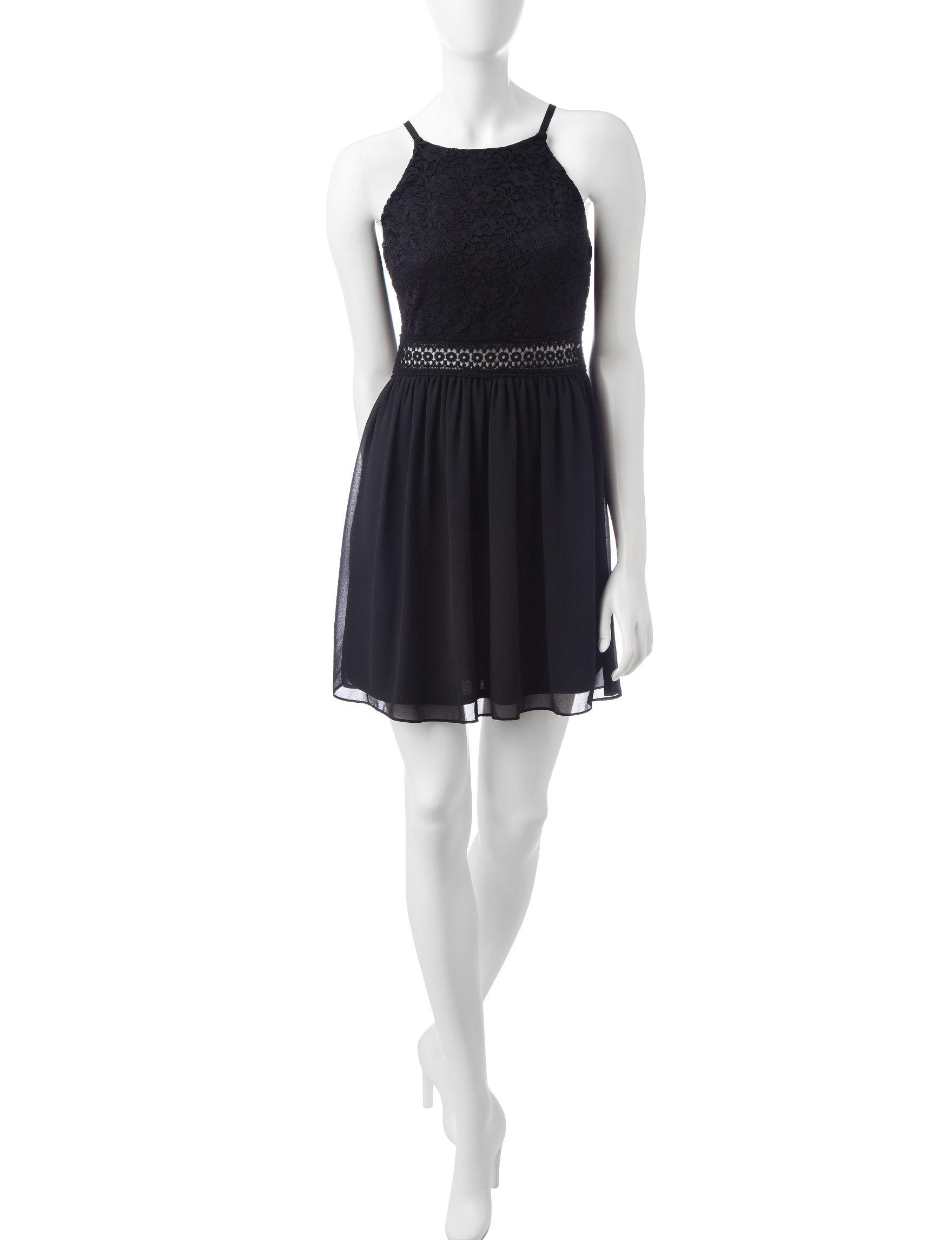 A. Byer Black Shift Dresses