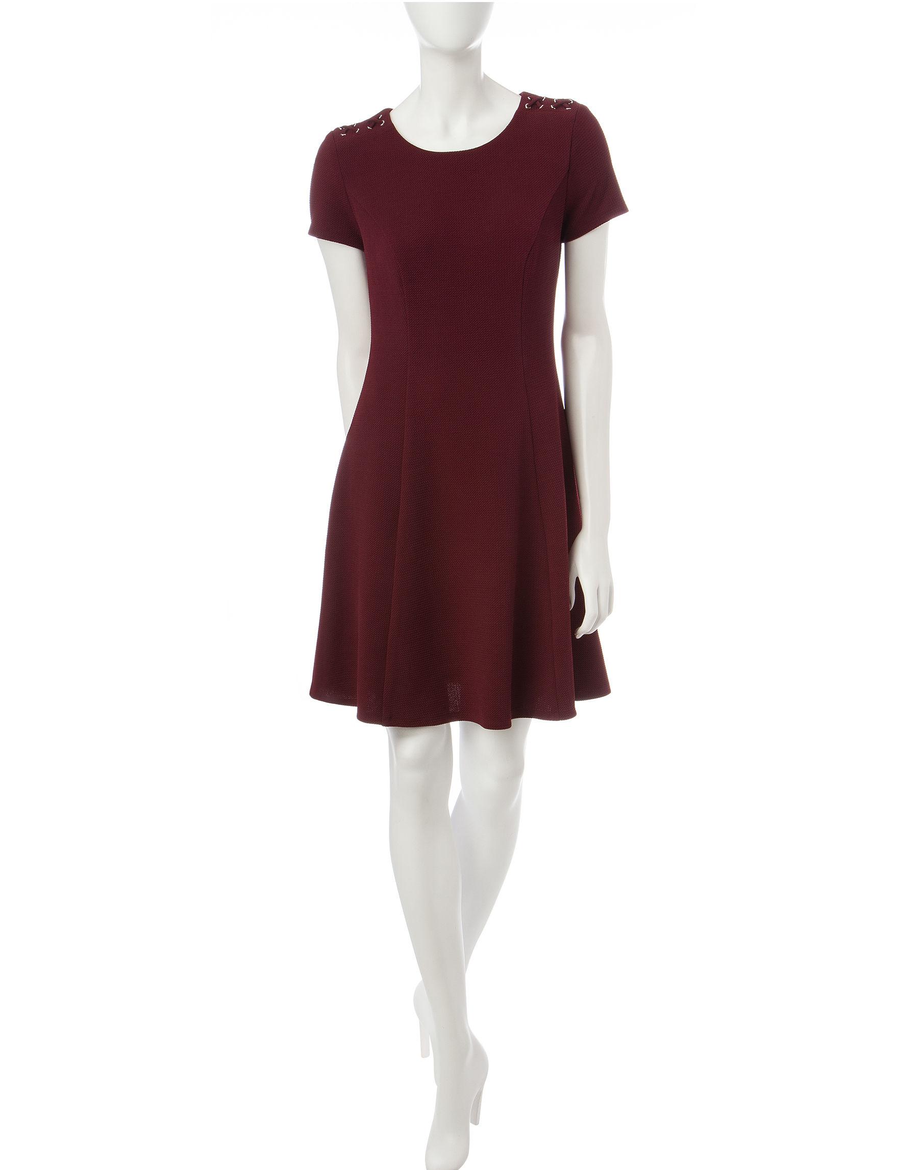 A. Byer Burgandy A-line Dresses
