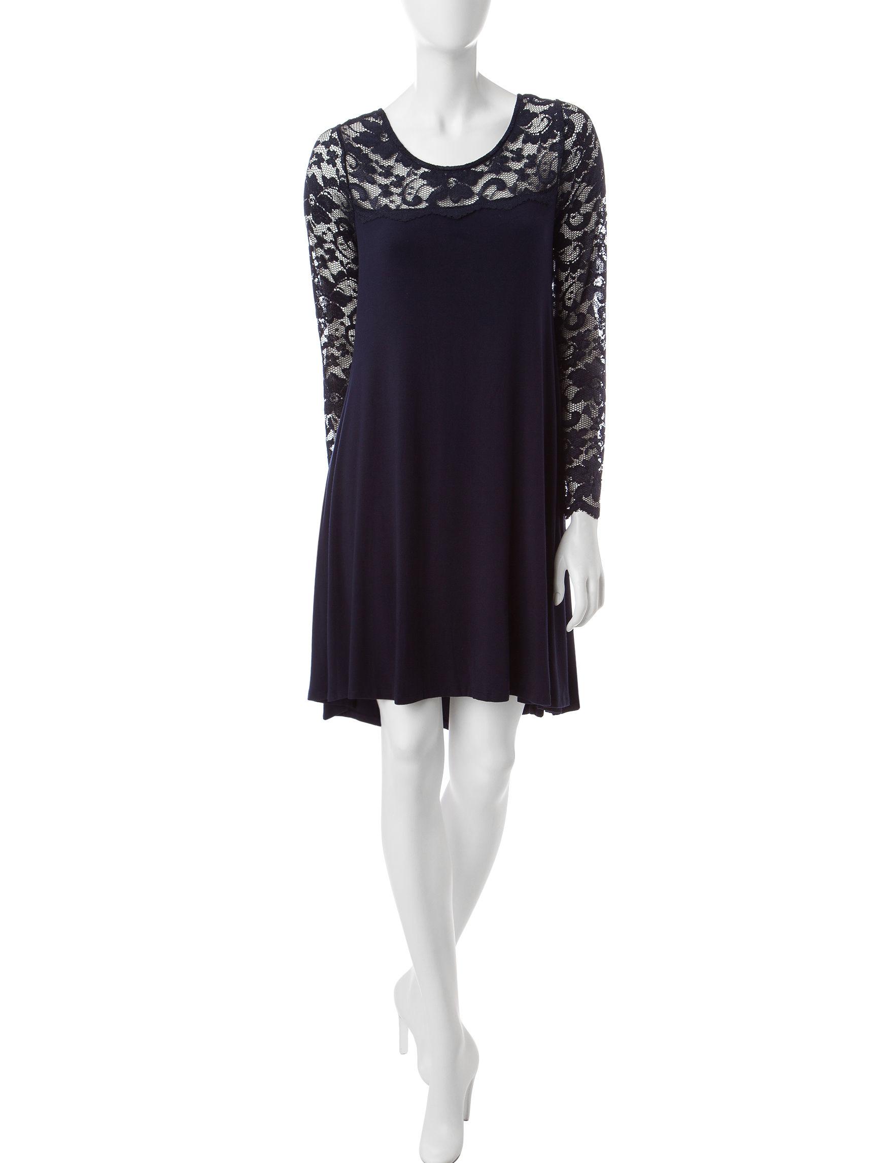 Lennie Navy Evening & Formal Shift Dresses