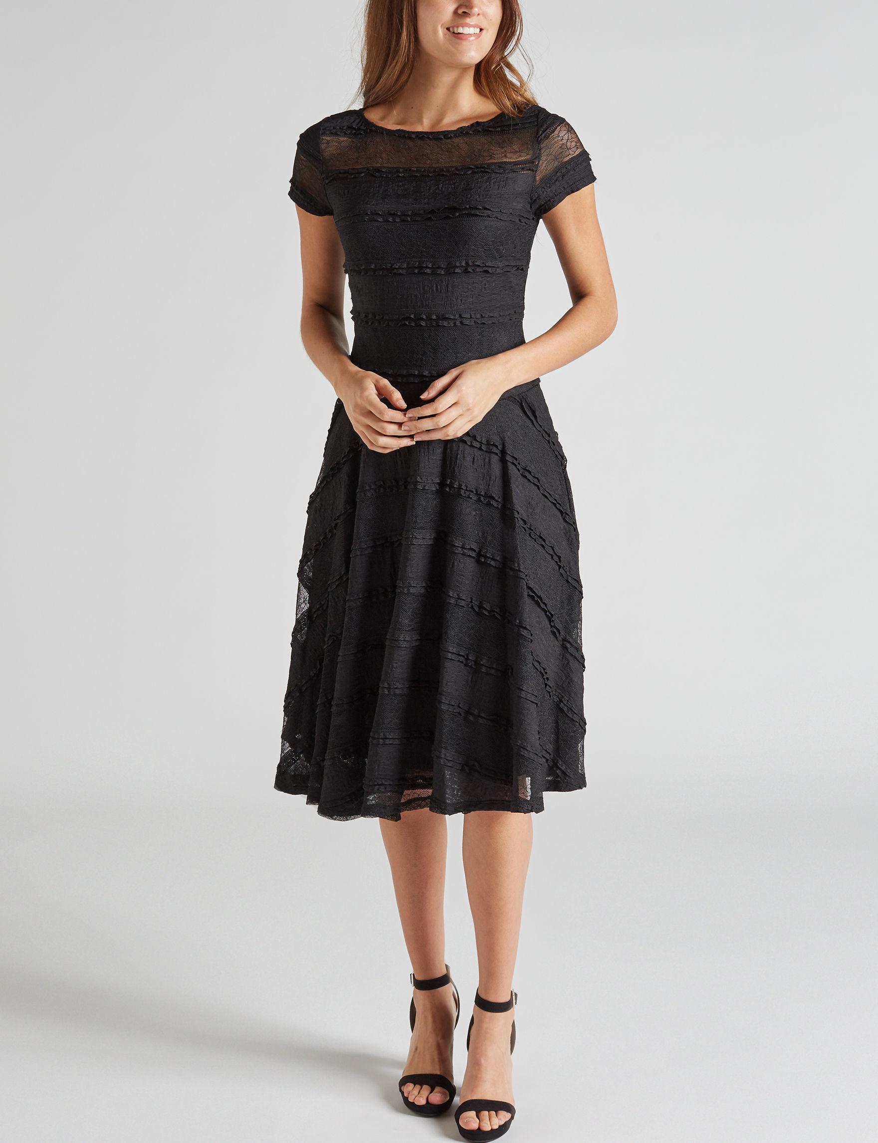 Sangria Black A-line Dresses
