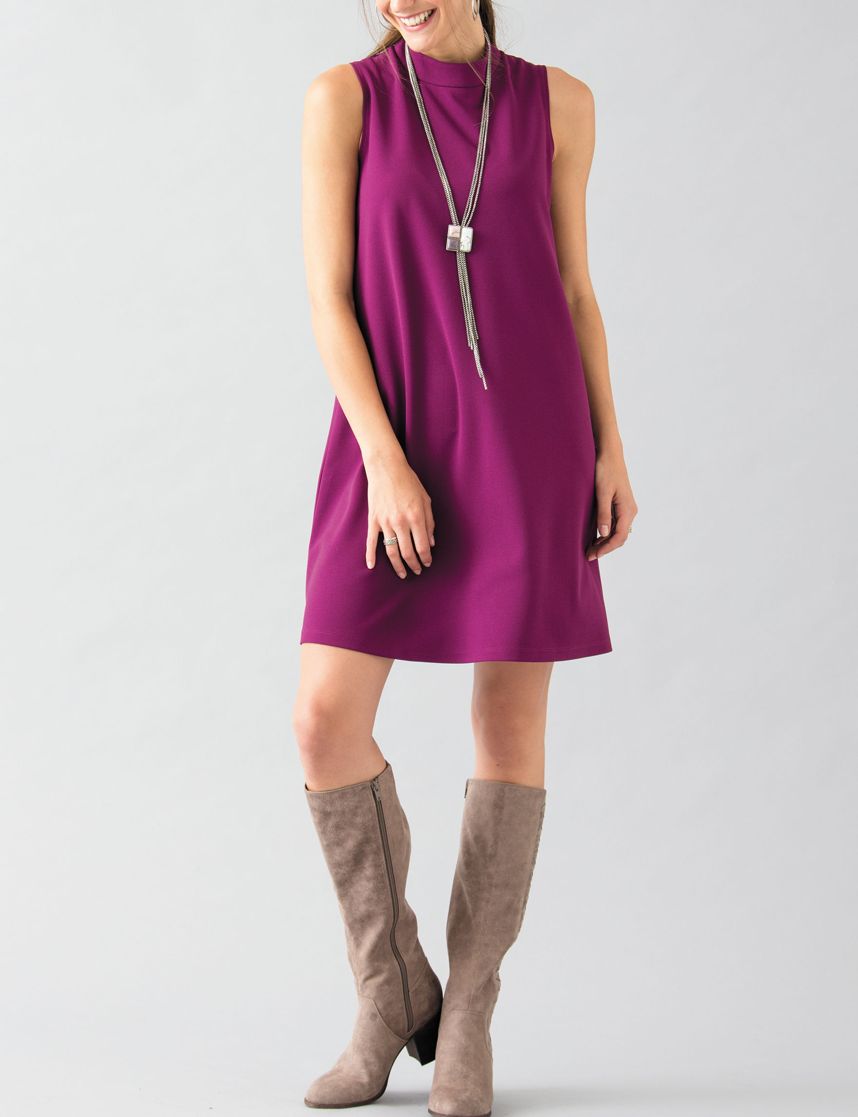 Ronni Nicole Purple Everyday & Casual Shift Dresses