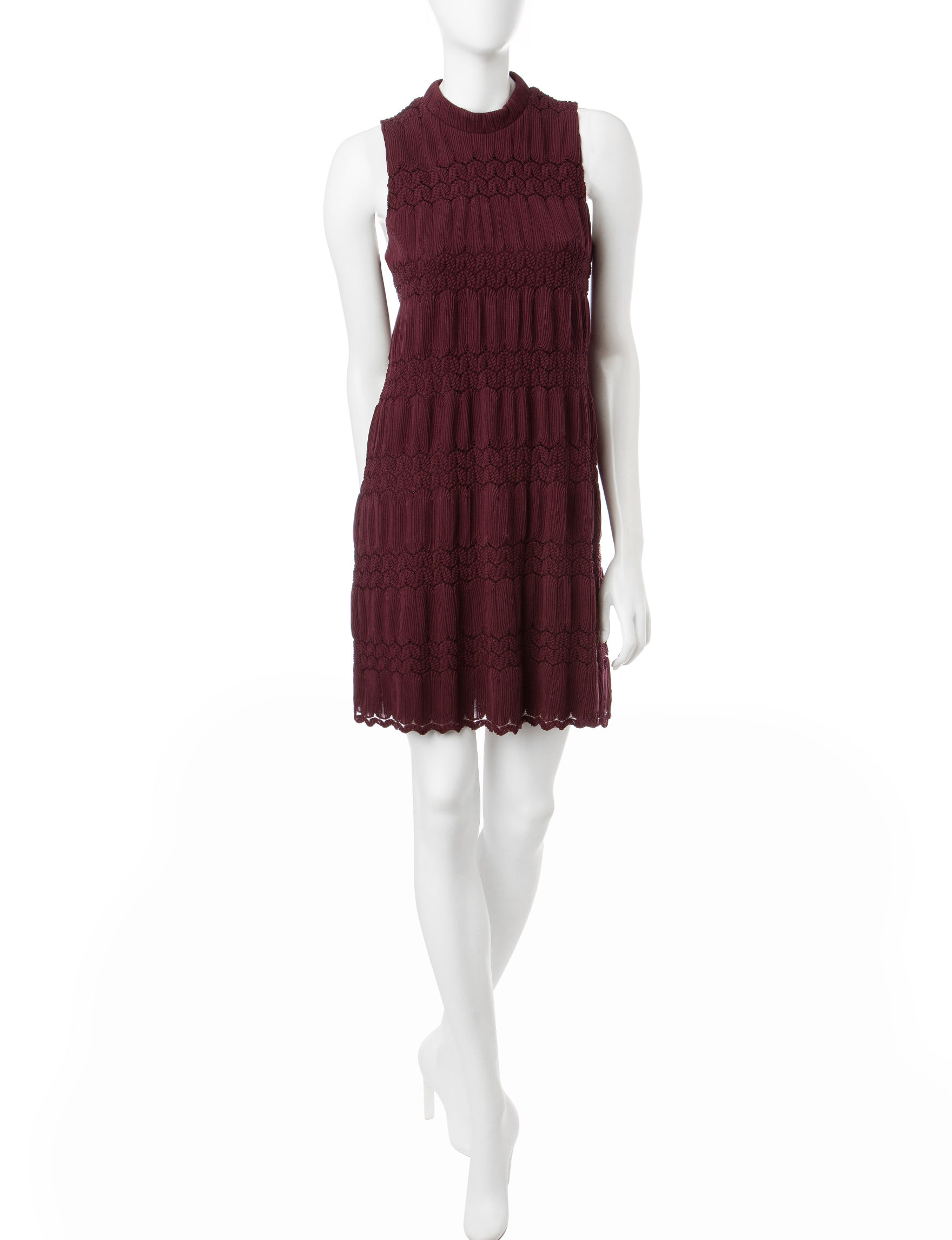 Halo Dark Red Everyday & Casual A-line Dresses
