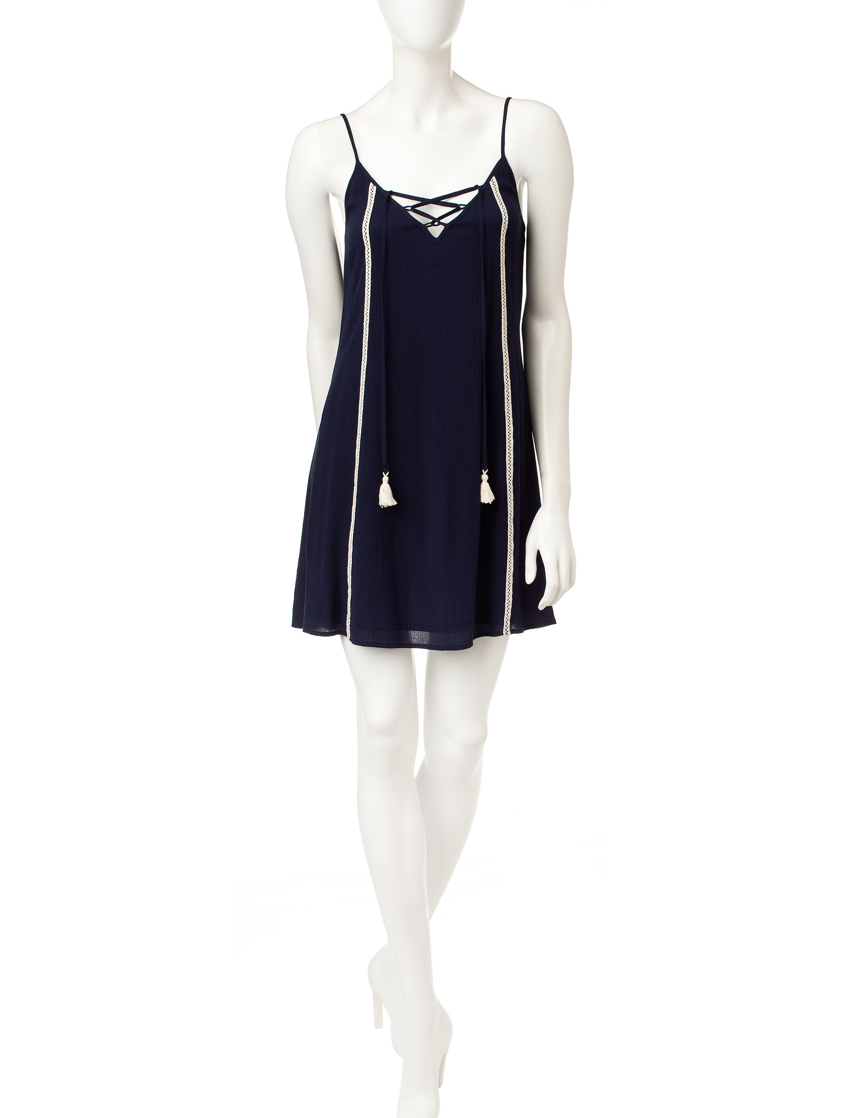 Trixxi Navy Shift Dresses