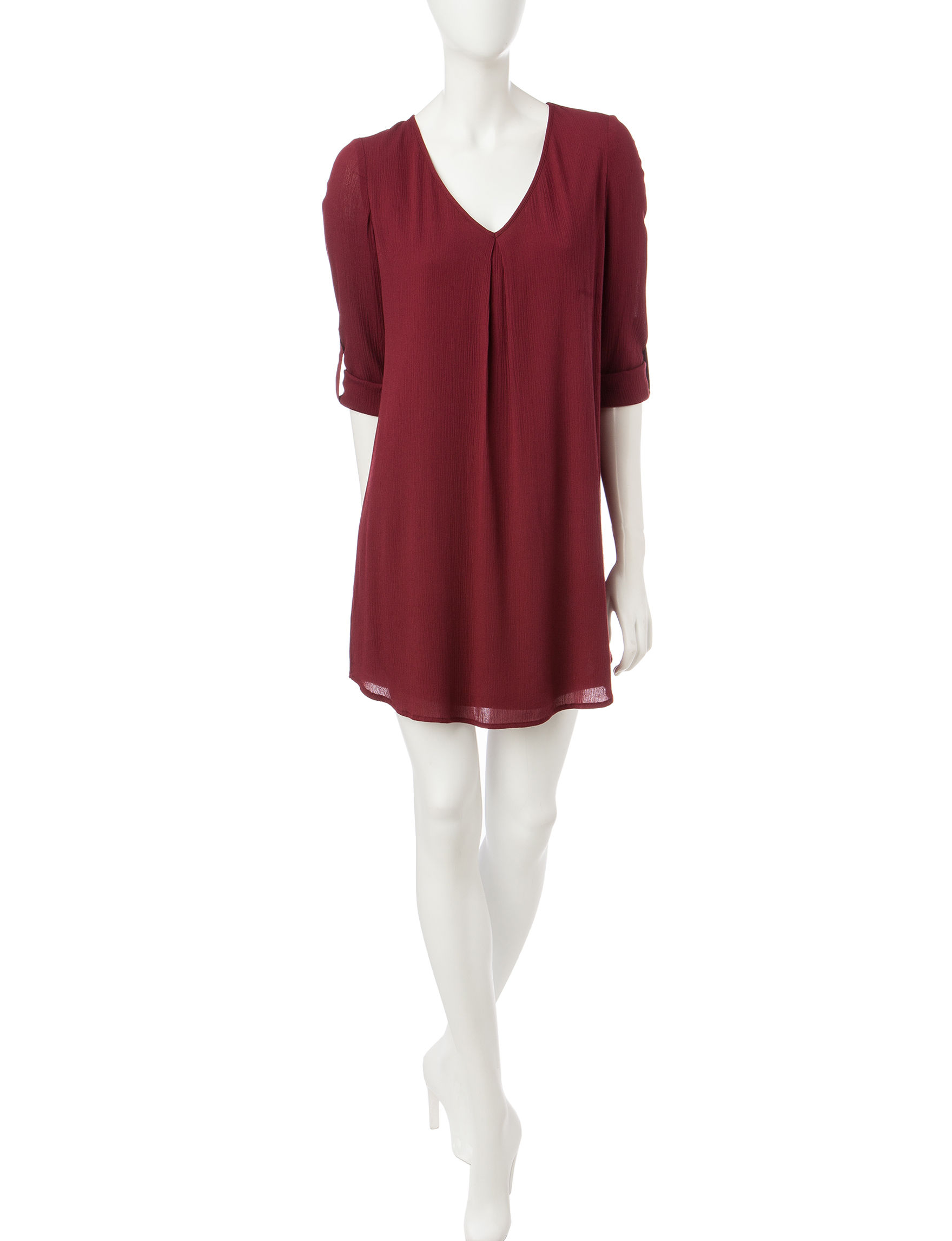 Love Fire Red Everyday & Casual Shift Dresses