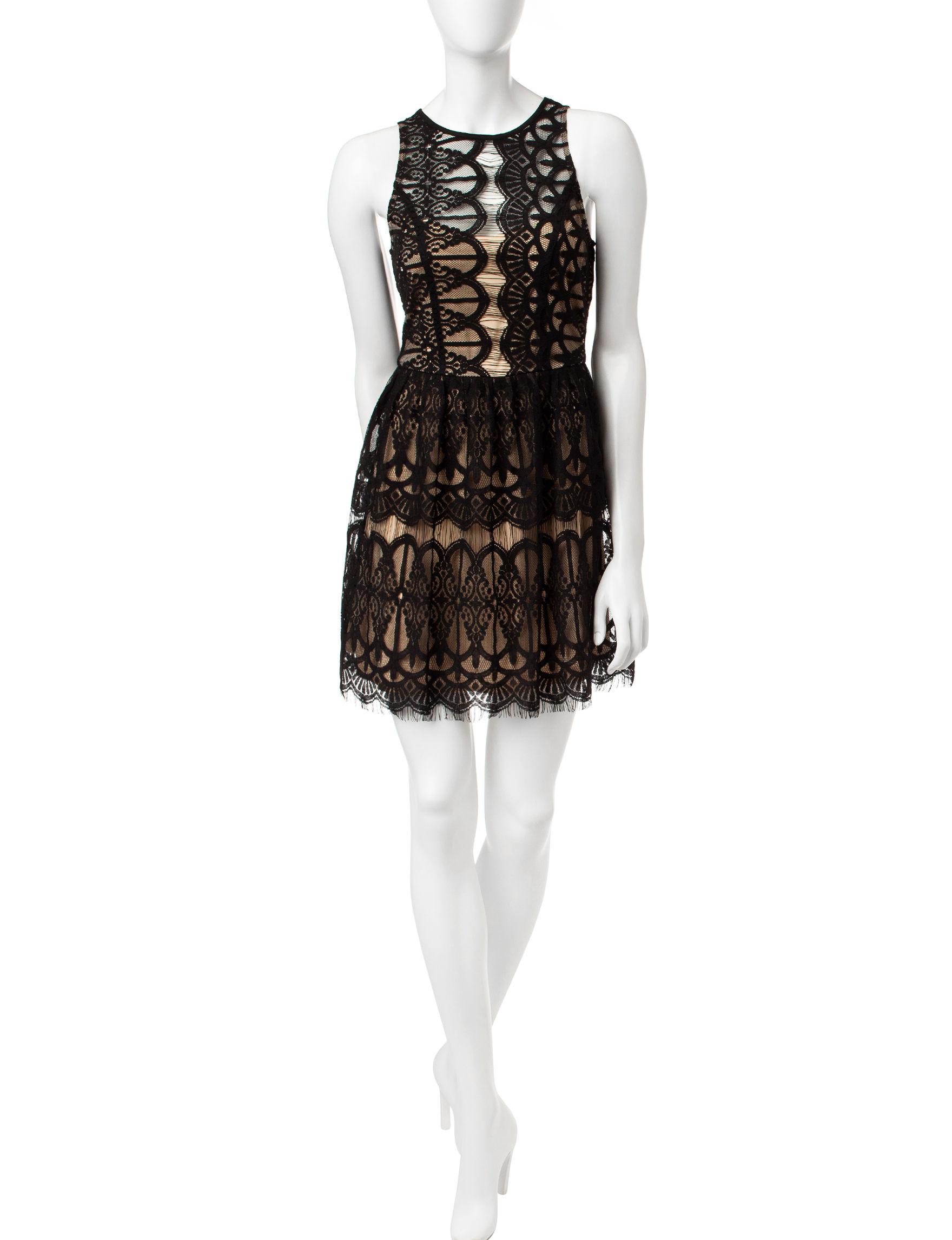 Trixxi Black Fit & Flare Dresses