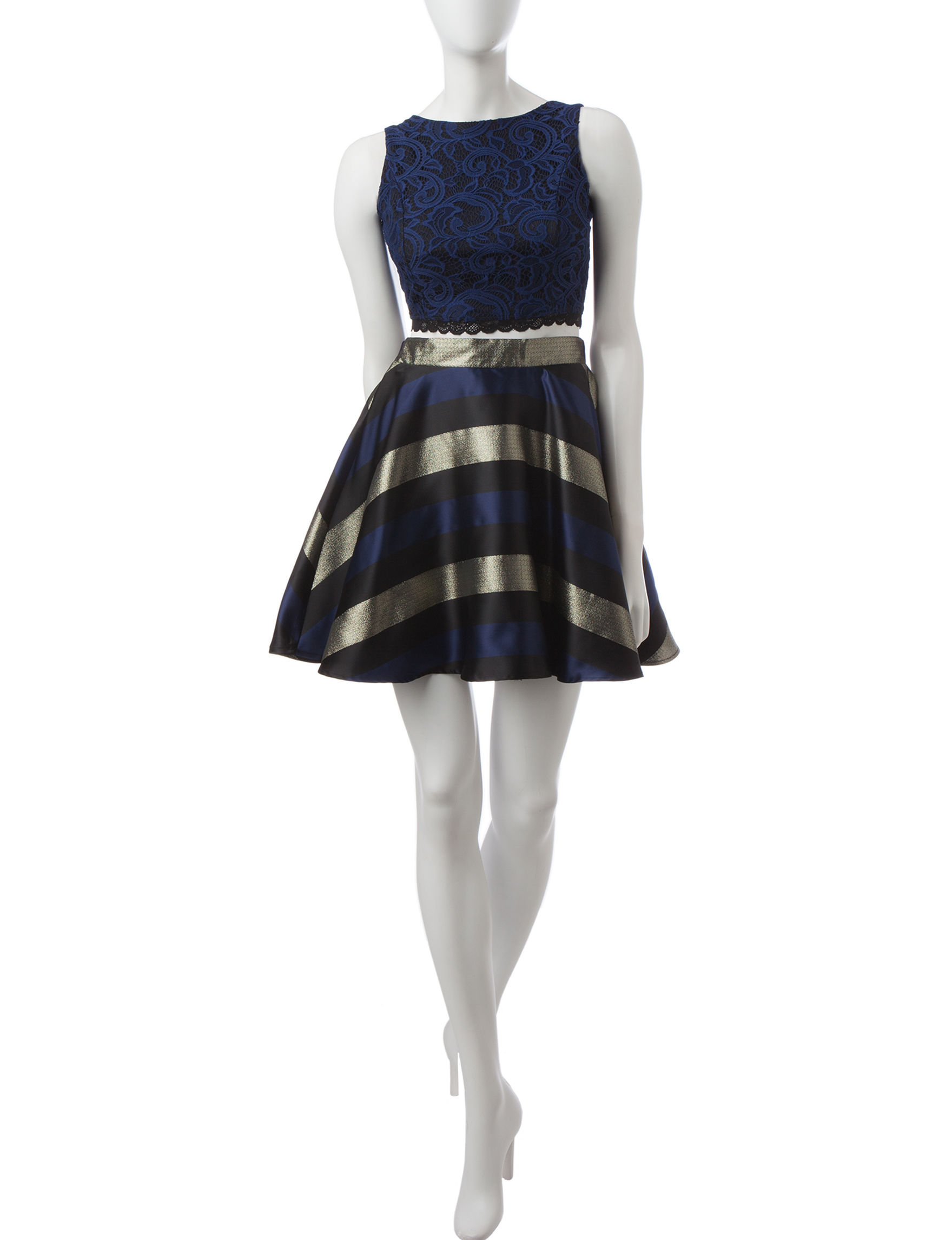 Bailey Blue Navy Everyday & Casual Fit & Flare Dresses