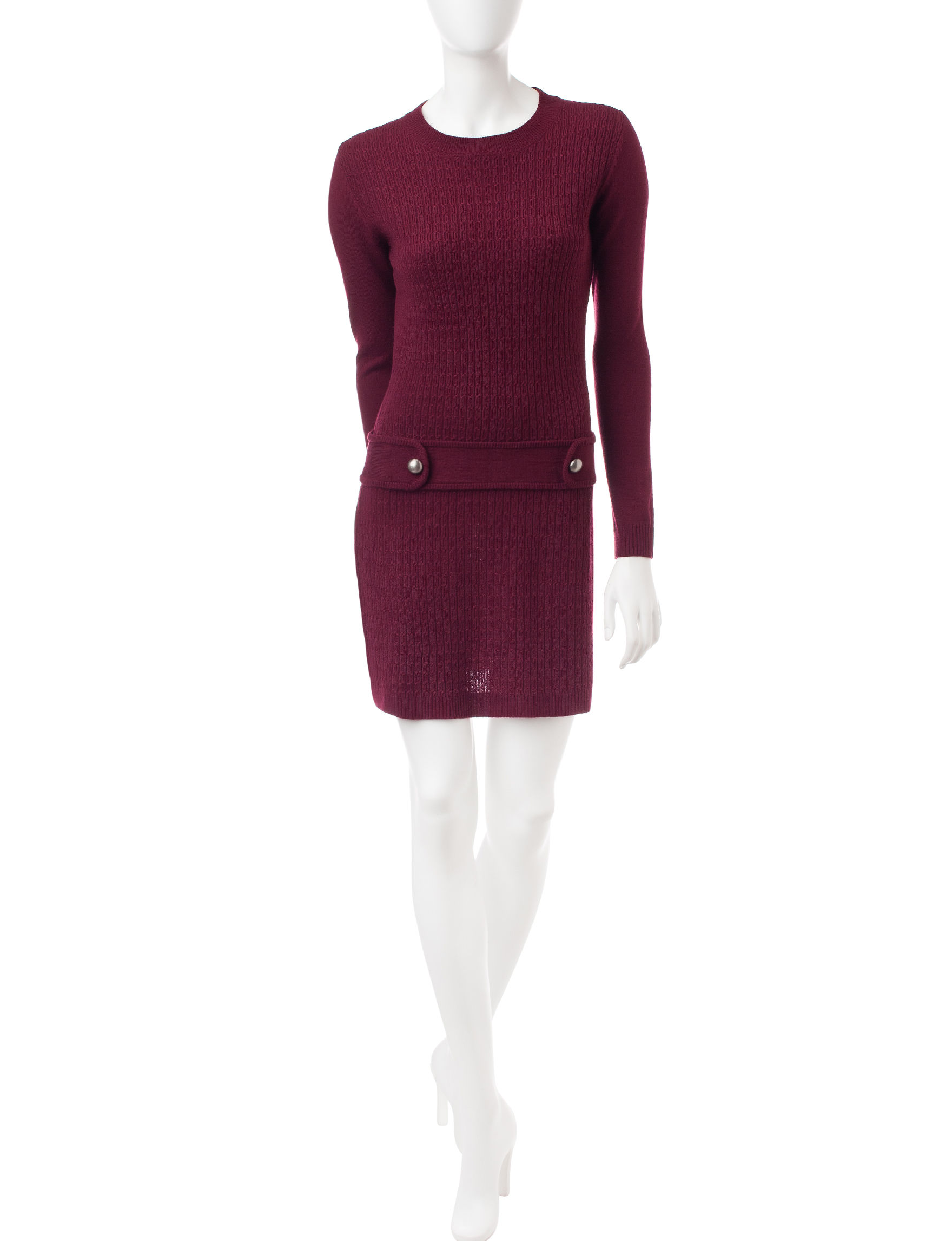 A. Byer Red Everyday & Casual Sweater Dresses