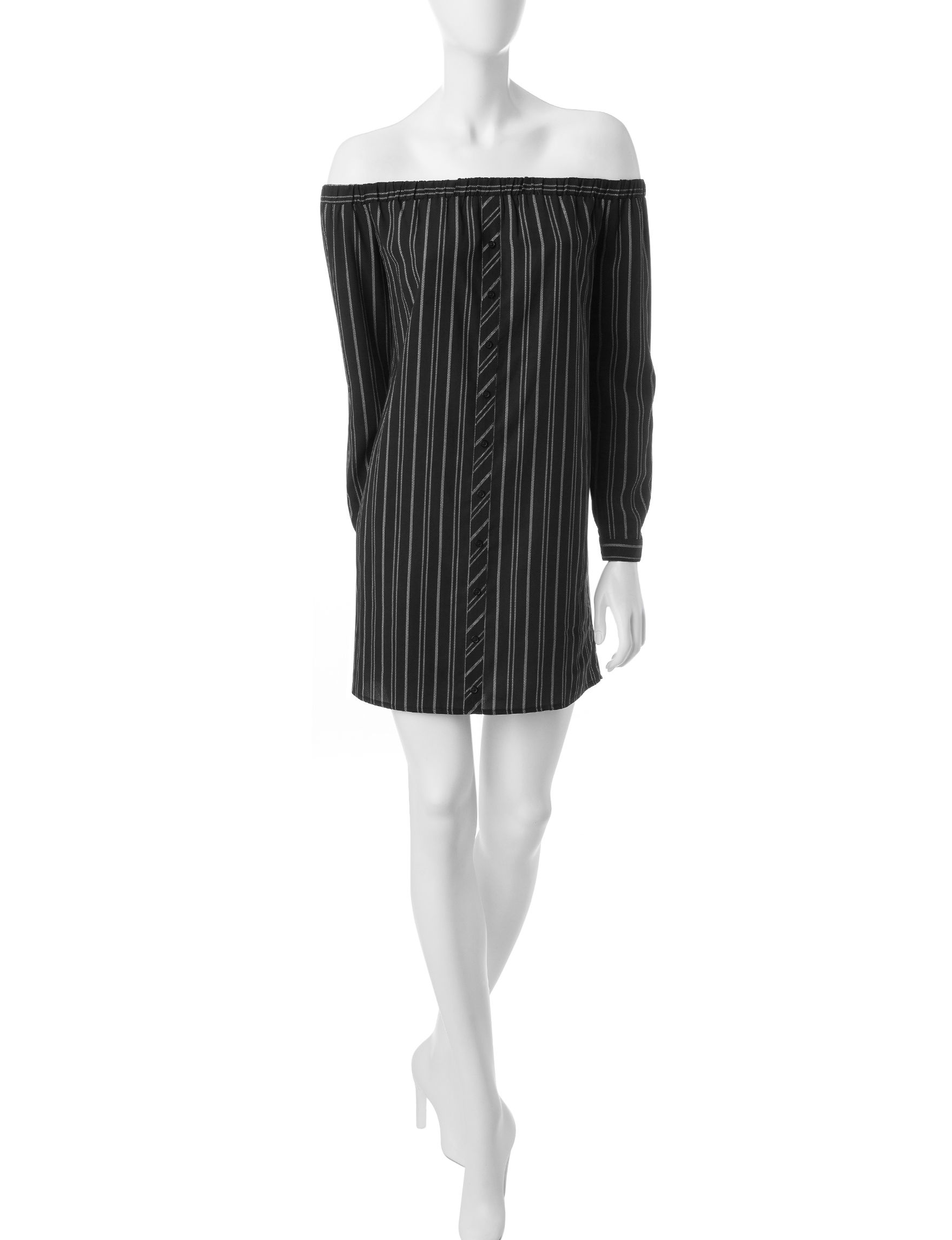 Love Fire Black /  White Everyday & Casual Shift Dresses