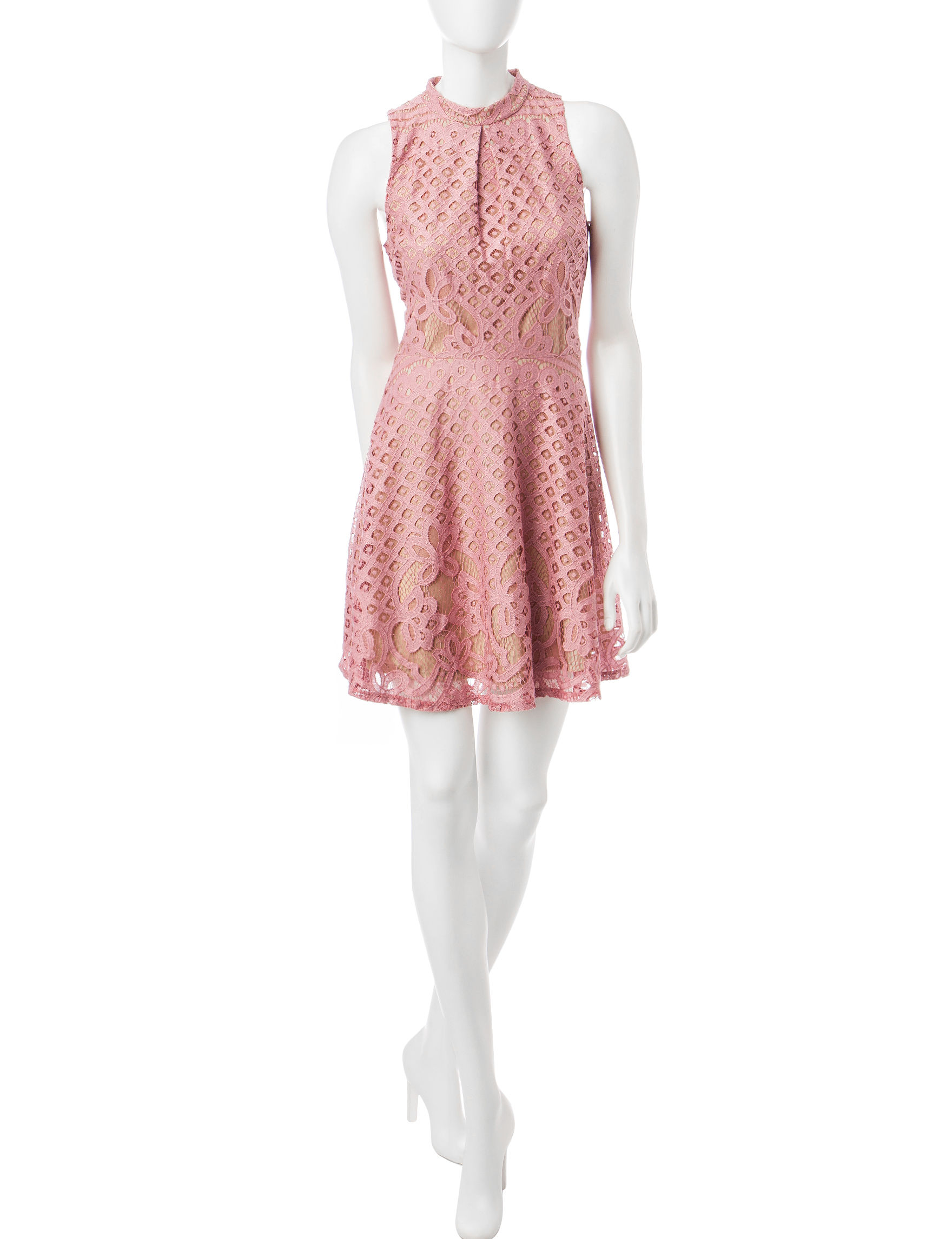 Love Fire Pink Everyday & Casual Fit & Flare Dresses