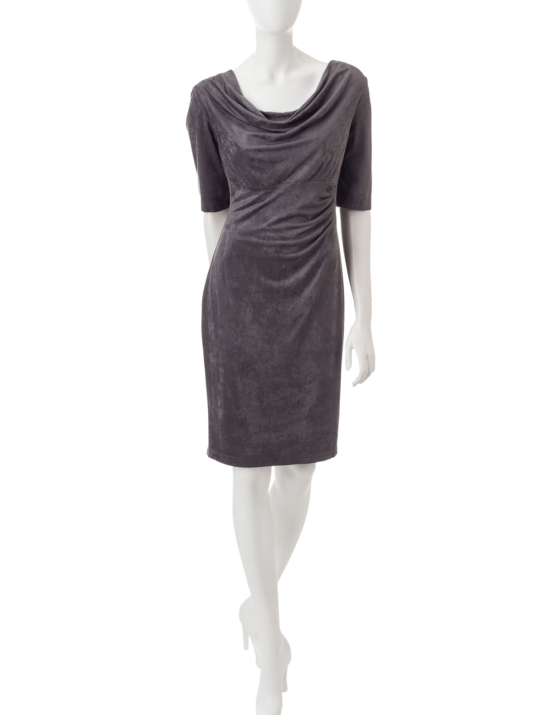 Connected Charcoal Everyday & Casual Sheath Dresses