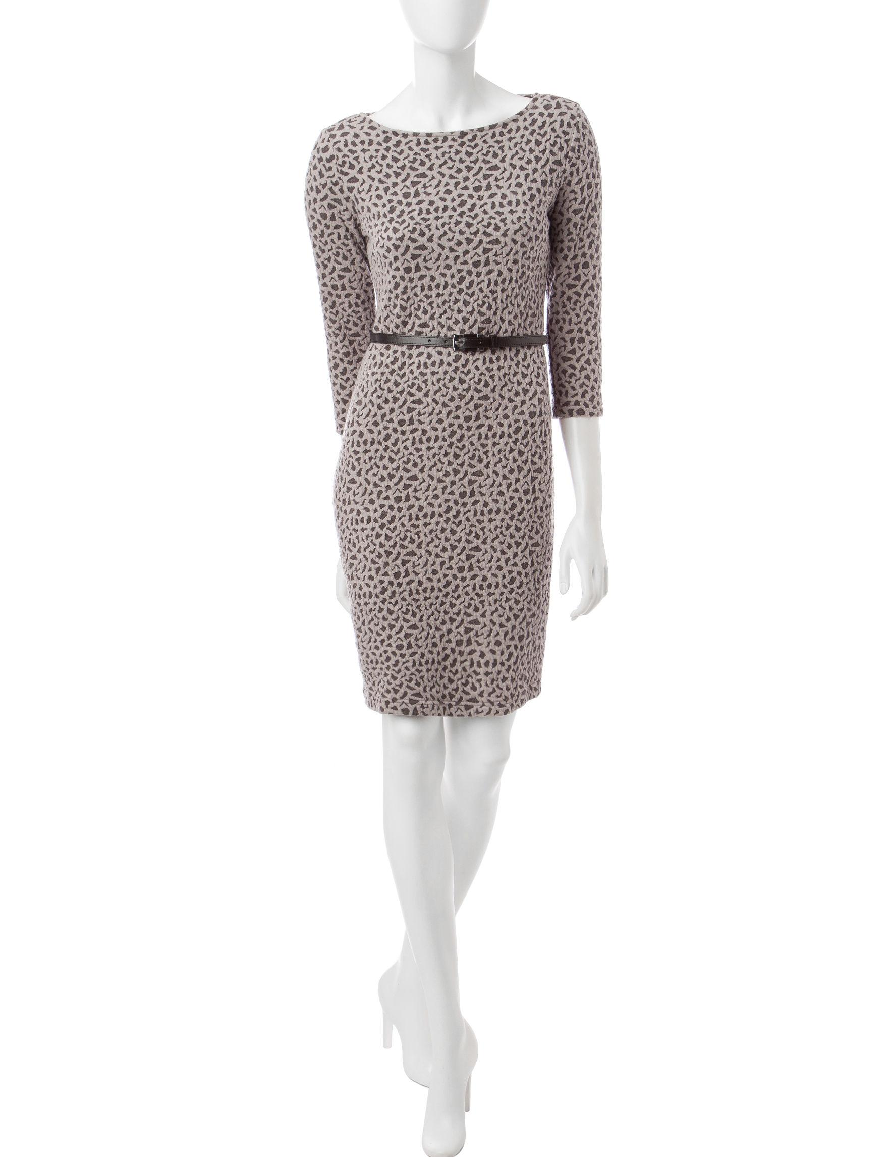 Sharagano Grey Everyday & Casual A-line Dresses