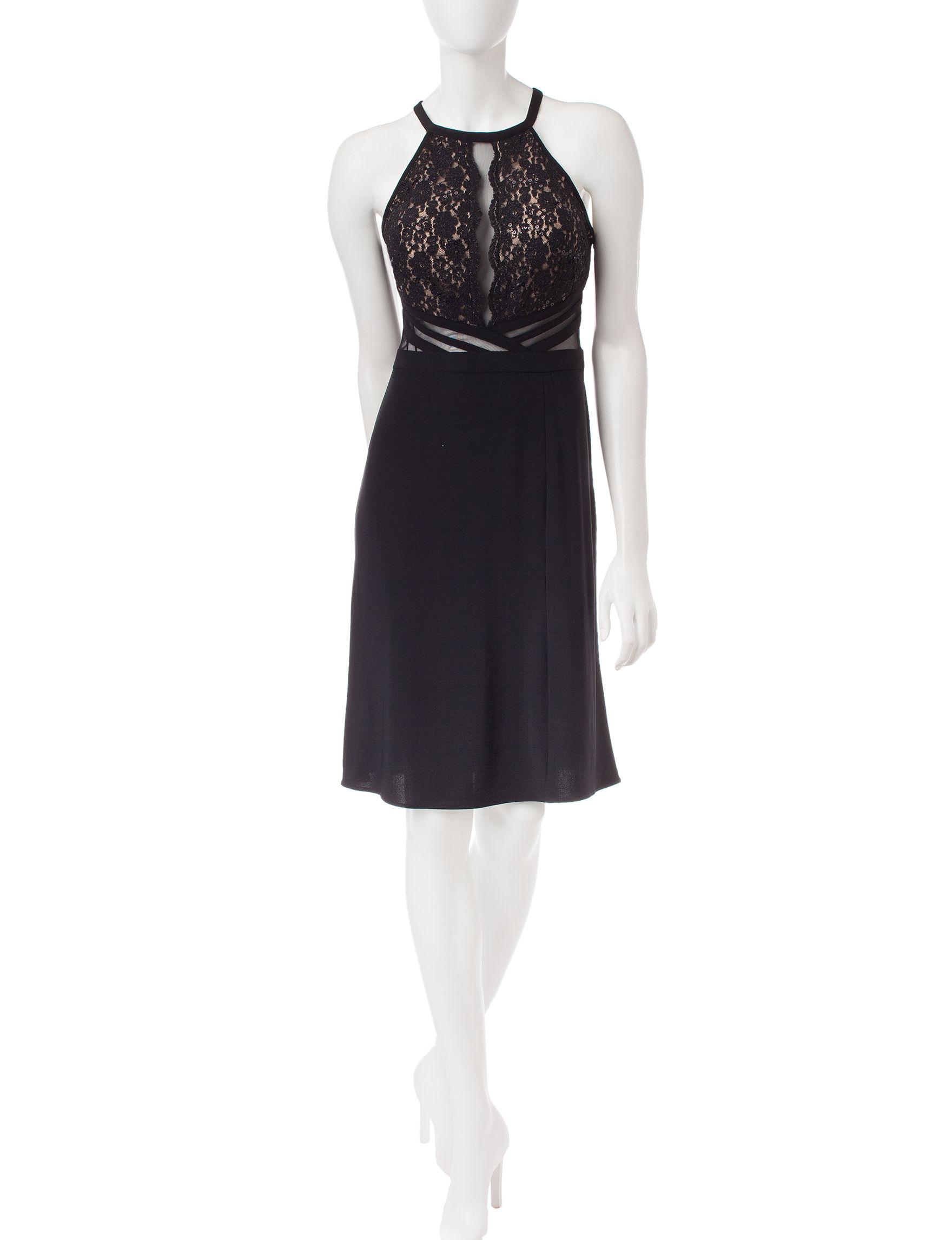 Morgan & Co. Black Evening & Formal Shift Dresses