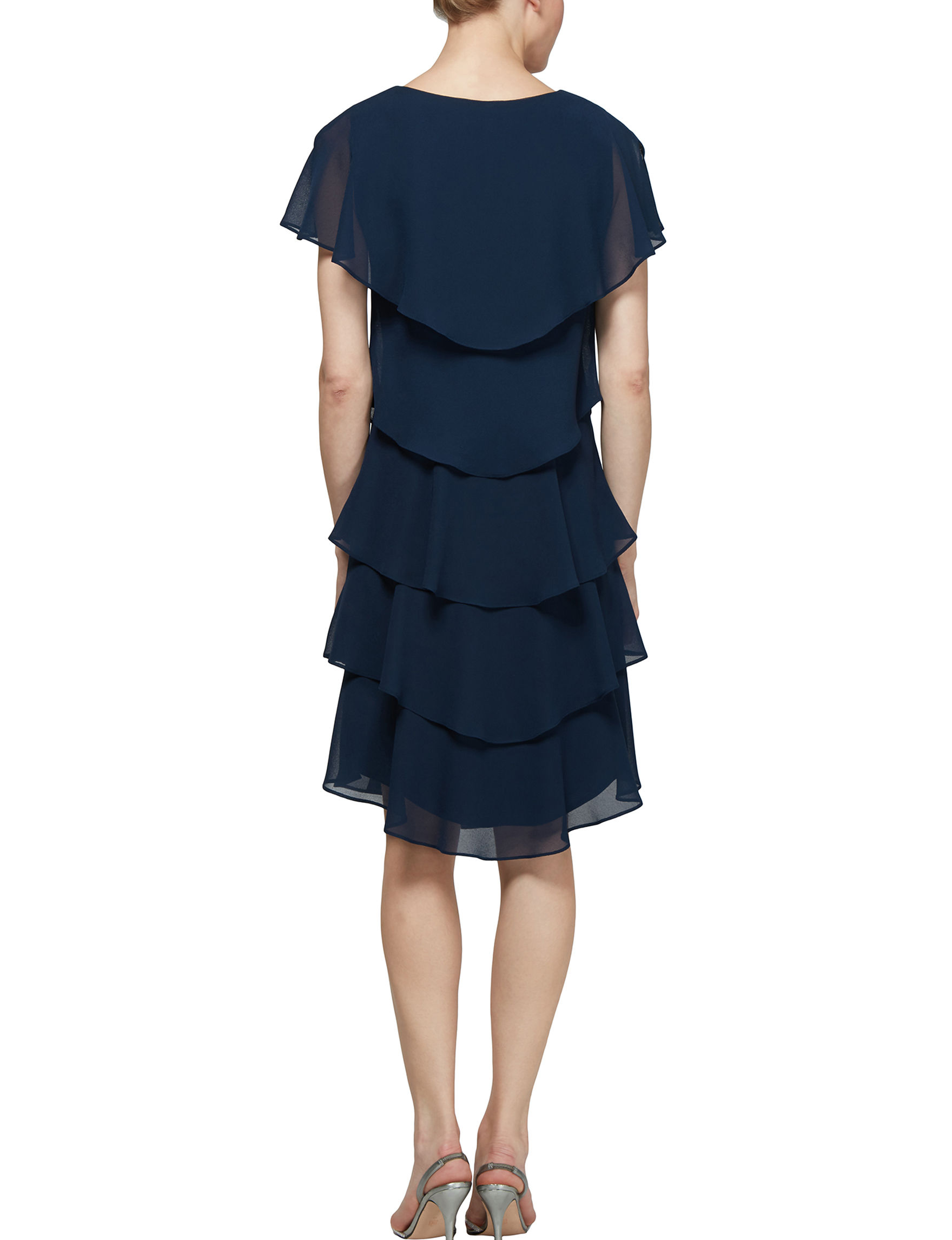 e21a6236 S.L. Fashions Women's Tiered Sheath Dress | Stage Stores