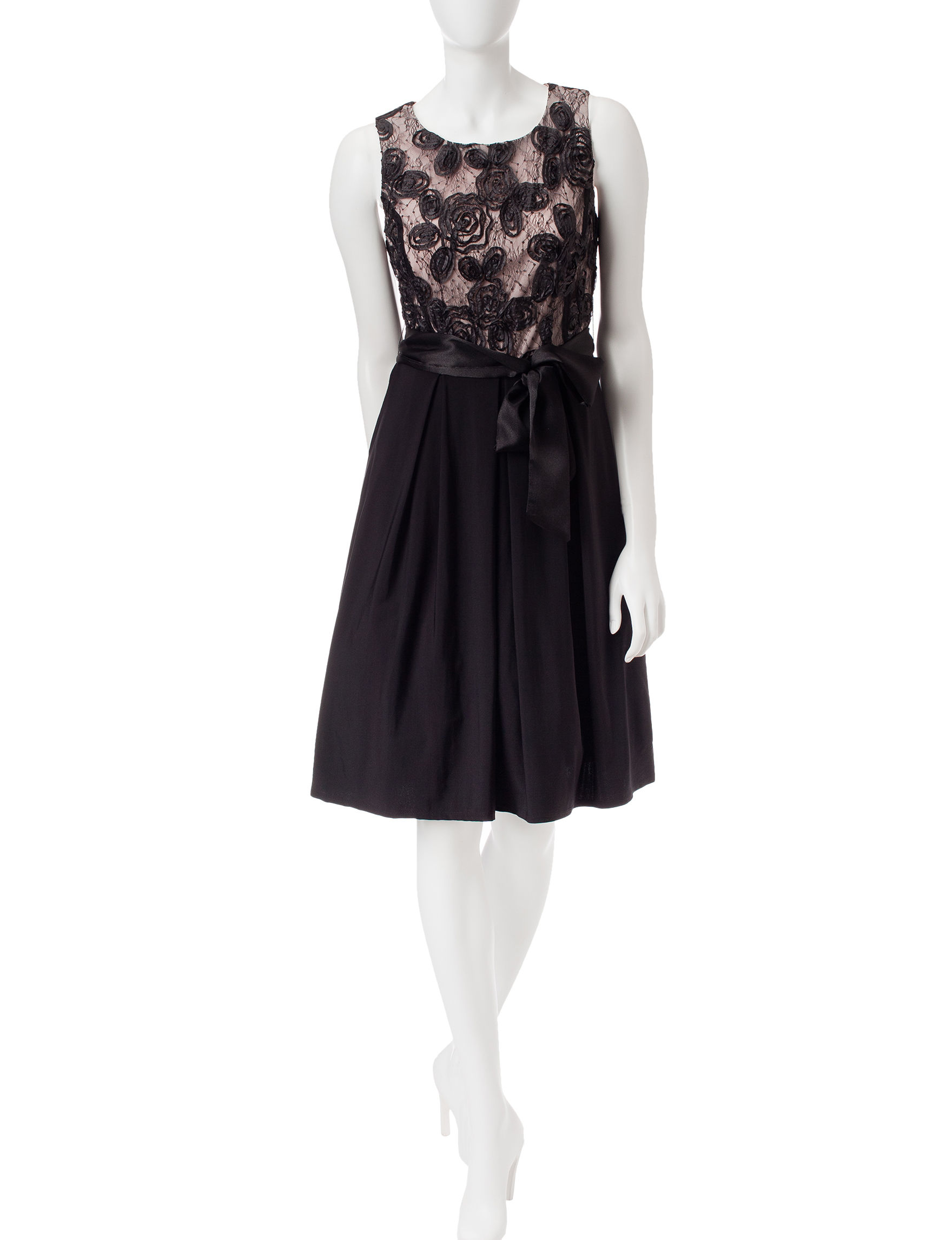Madison Leigh Black Cocktail & Party Evening & Formal A-line Dresses Fit & Flare Dresses