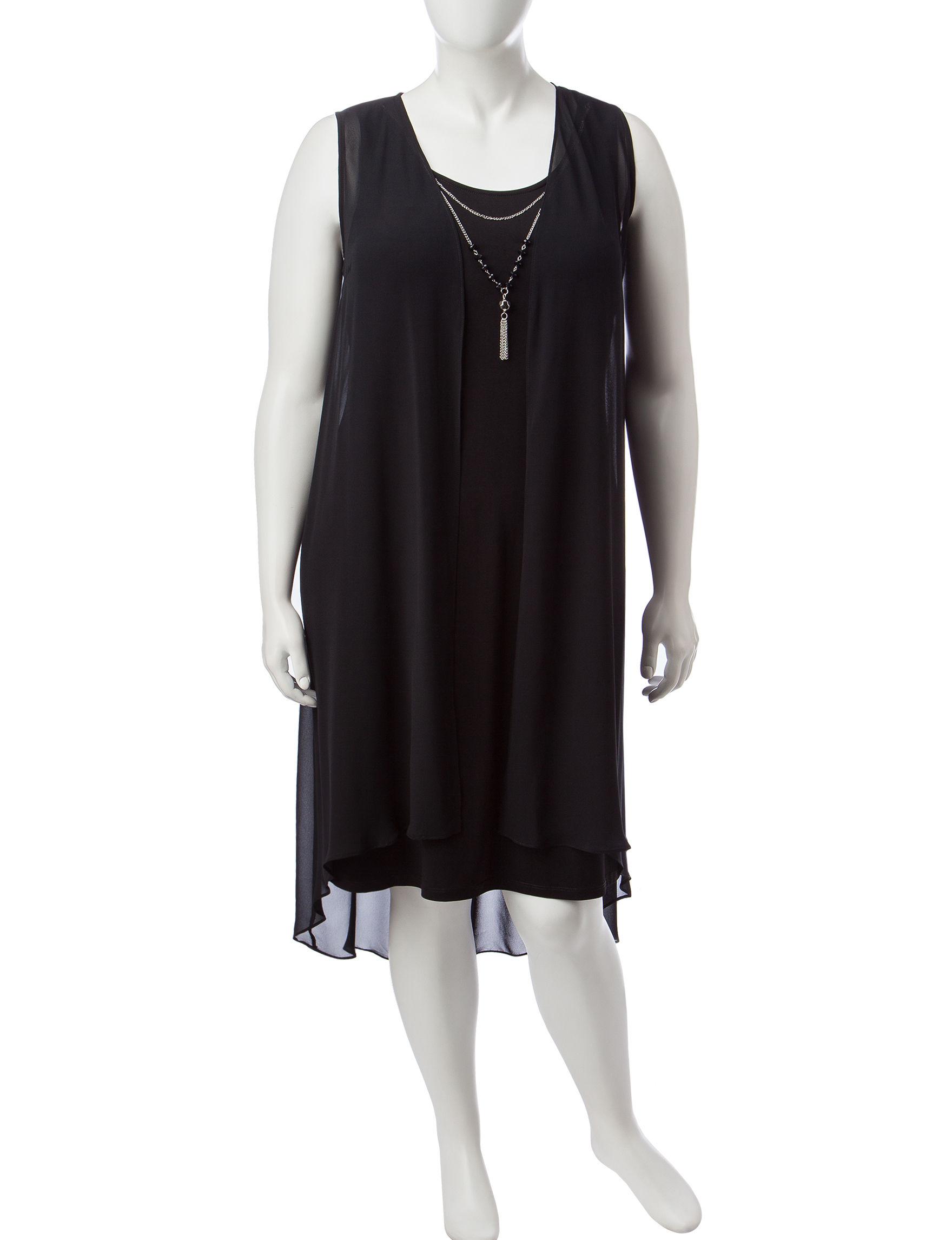 JM Studio Black Everyday & Casual Jacket Dresses
