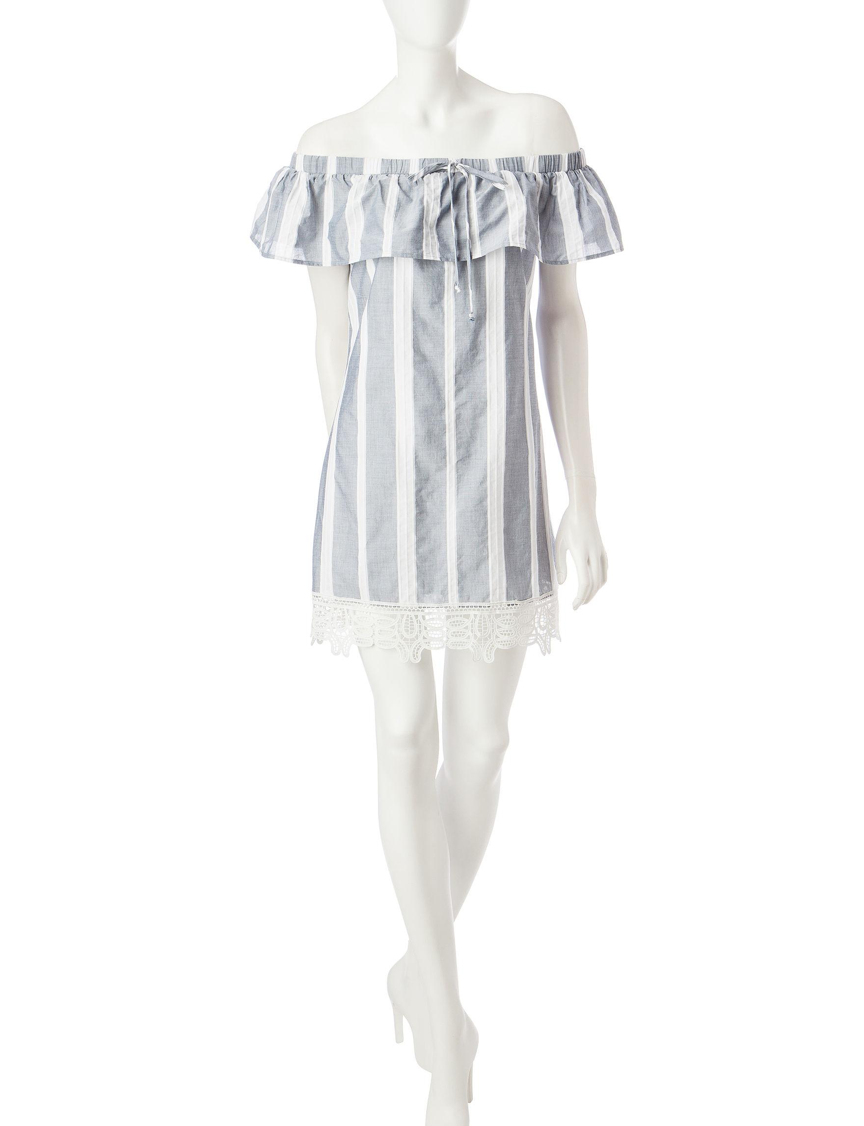 Trixxi Blue Everyday & Casual Shirt Dresses Sundresses