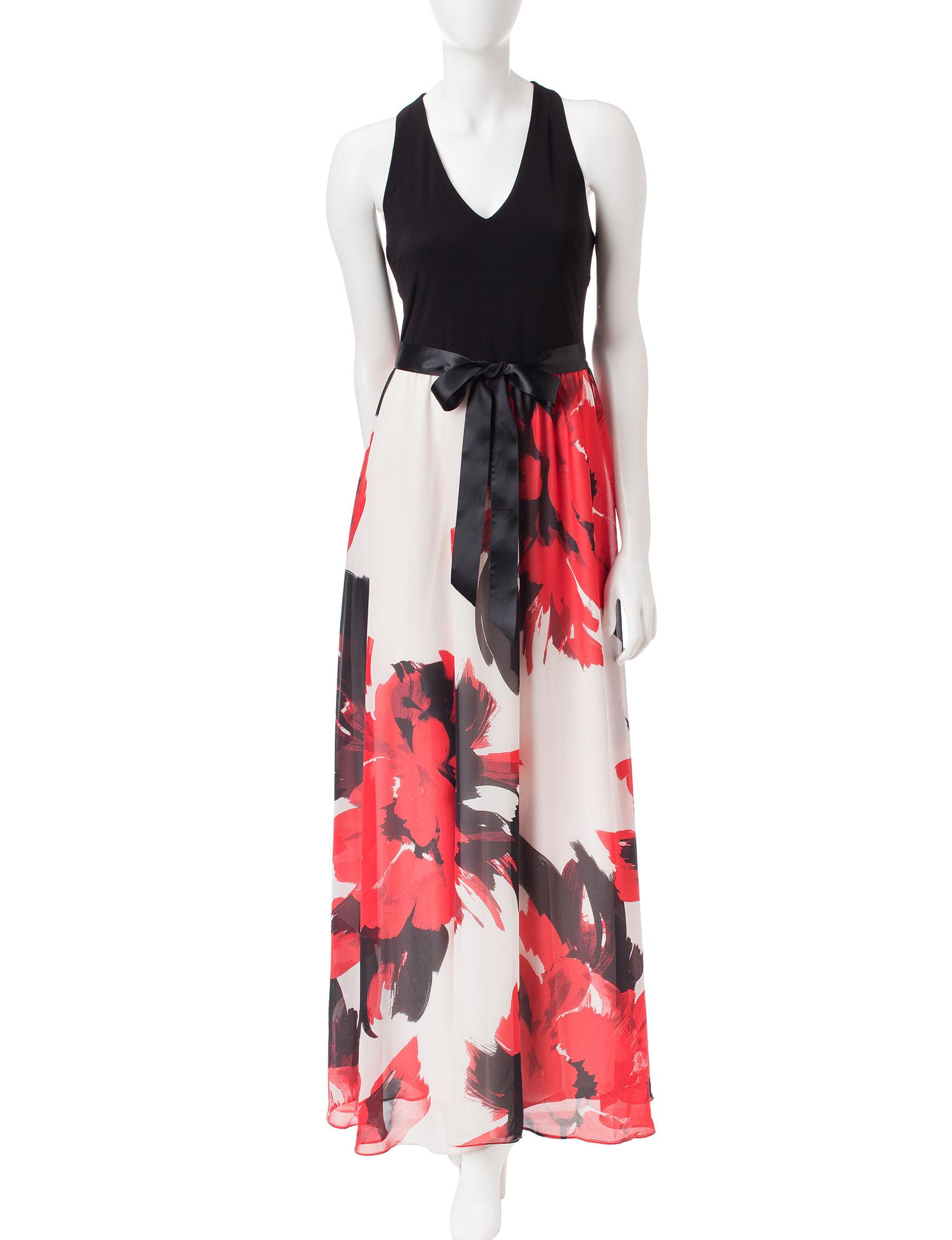 Sl sl fashion dresses - S L Fashions Open Back Chiffon Maxi Dress