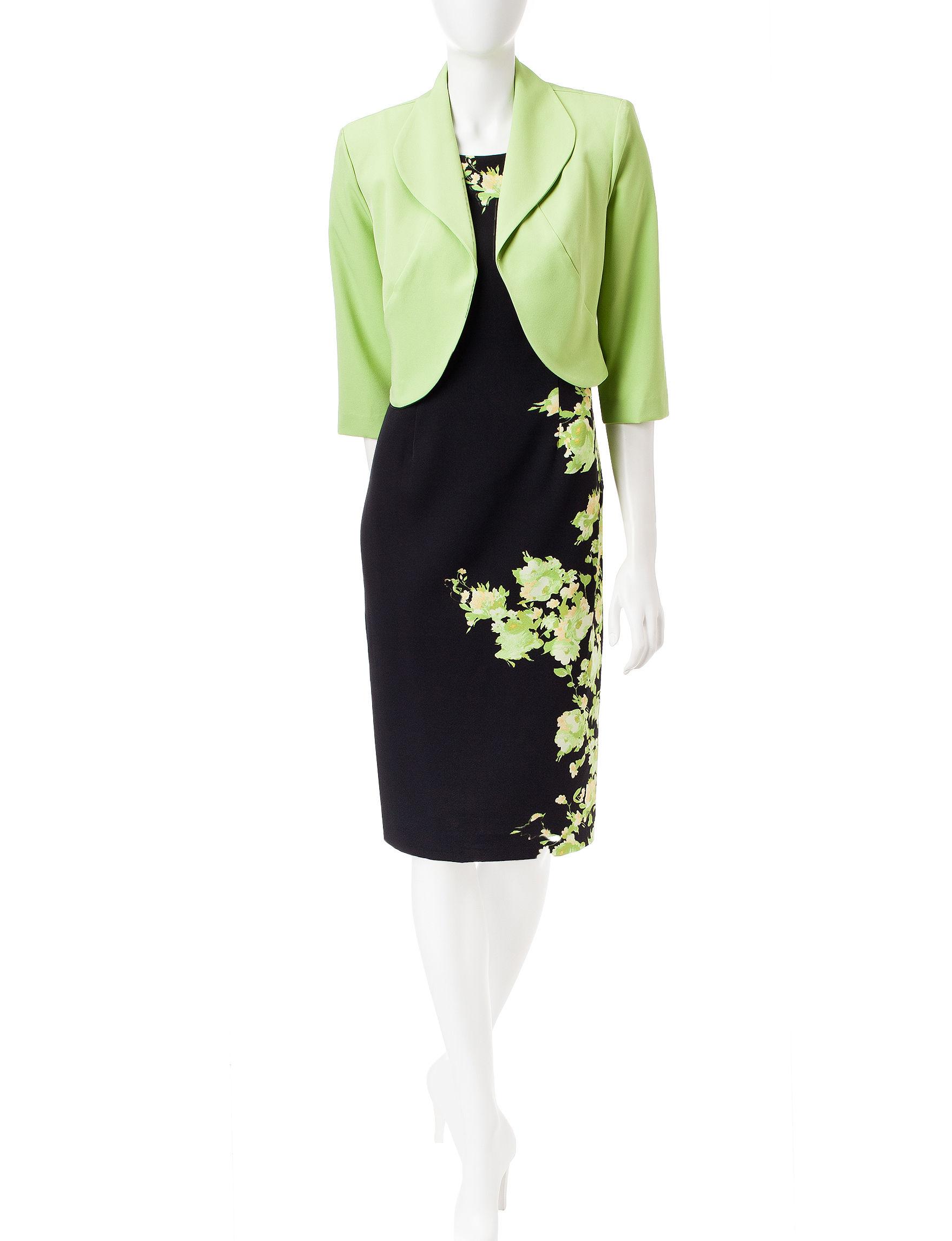 Maya Brooke Green Everyday & Casual Jacket Dresses