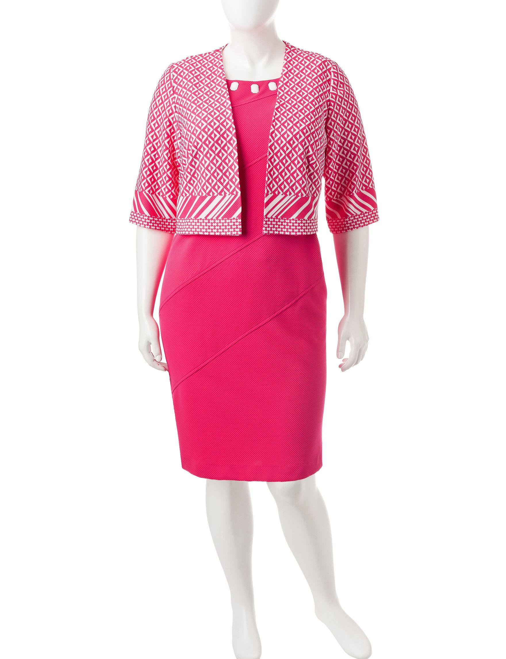 Maya Brooke Hot Pink Everyday & Casual Jacket Dresses
