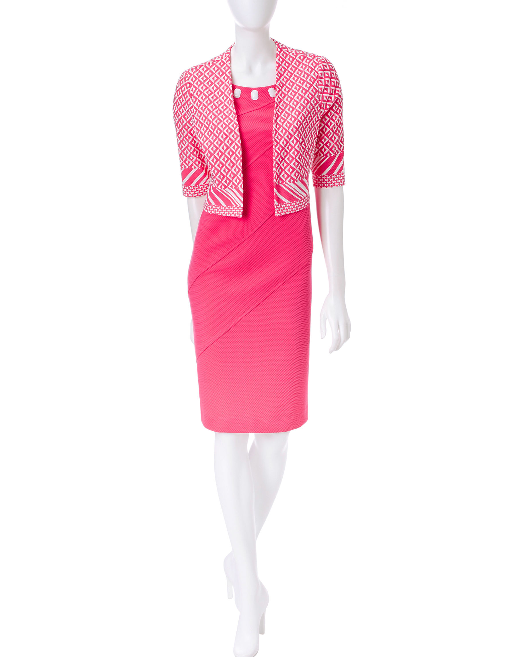 Maya Brooke Pink Everyday & Casual Jacket Dresses