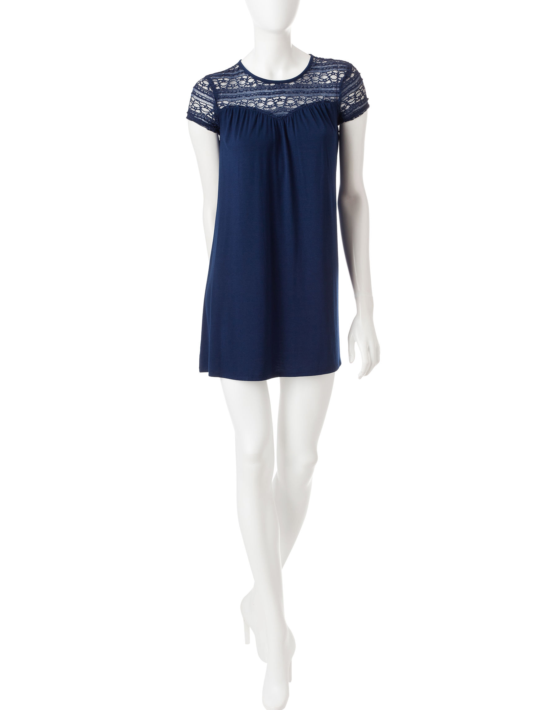 Speechless Navy Everyday & Casual Shift Dresses
