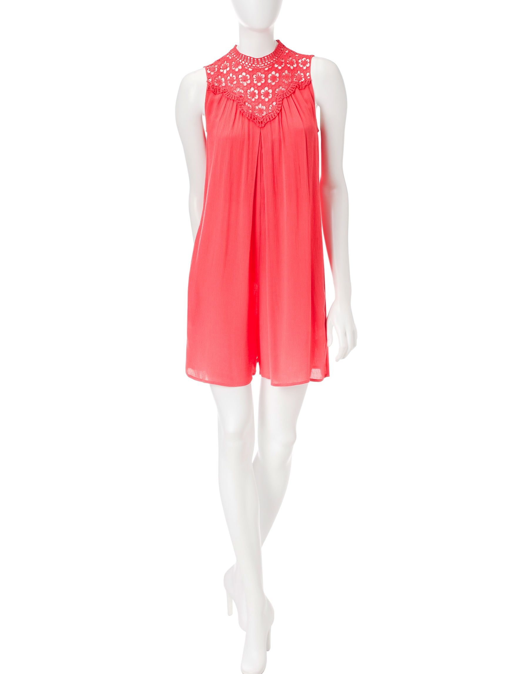 Speechless Coral Everyday & Casual Shift Dresses
