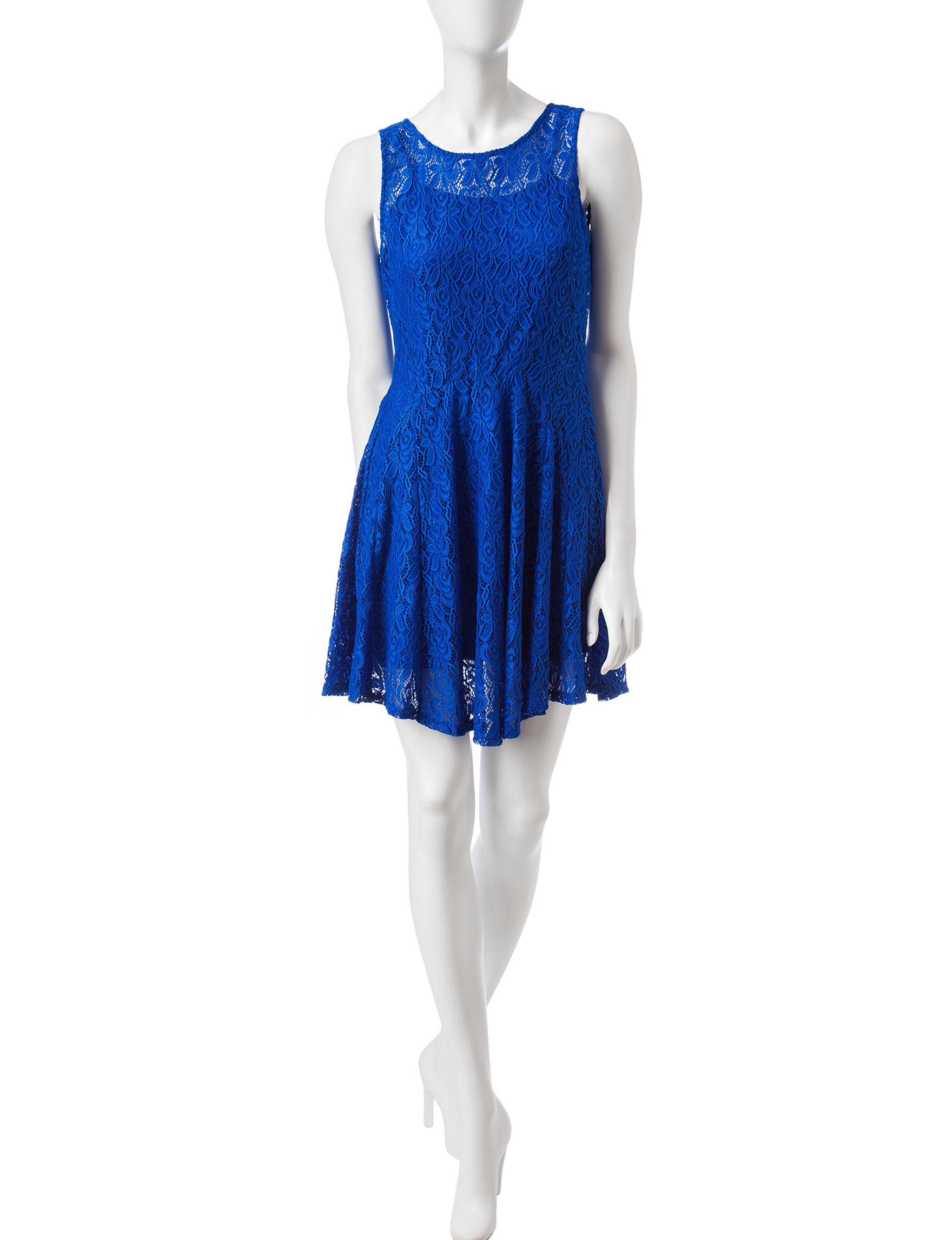 BeBop Cobalt Blue Everyday & Casual Fit & Flare Dresses