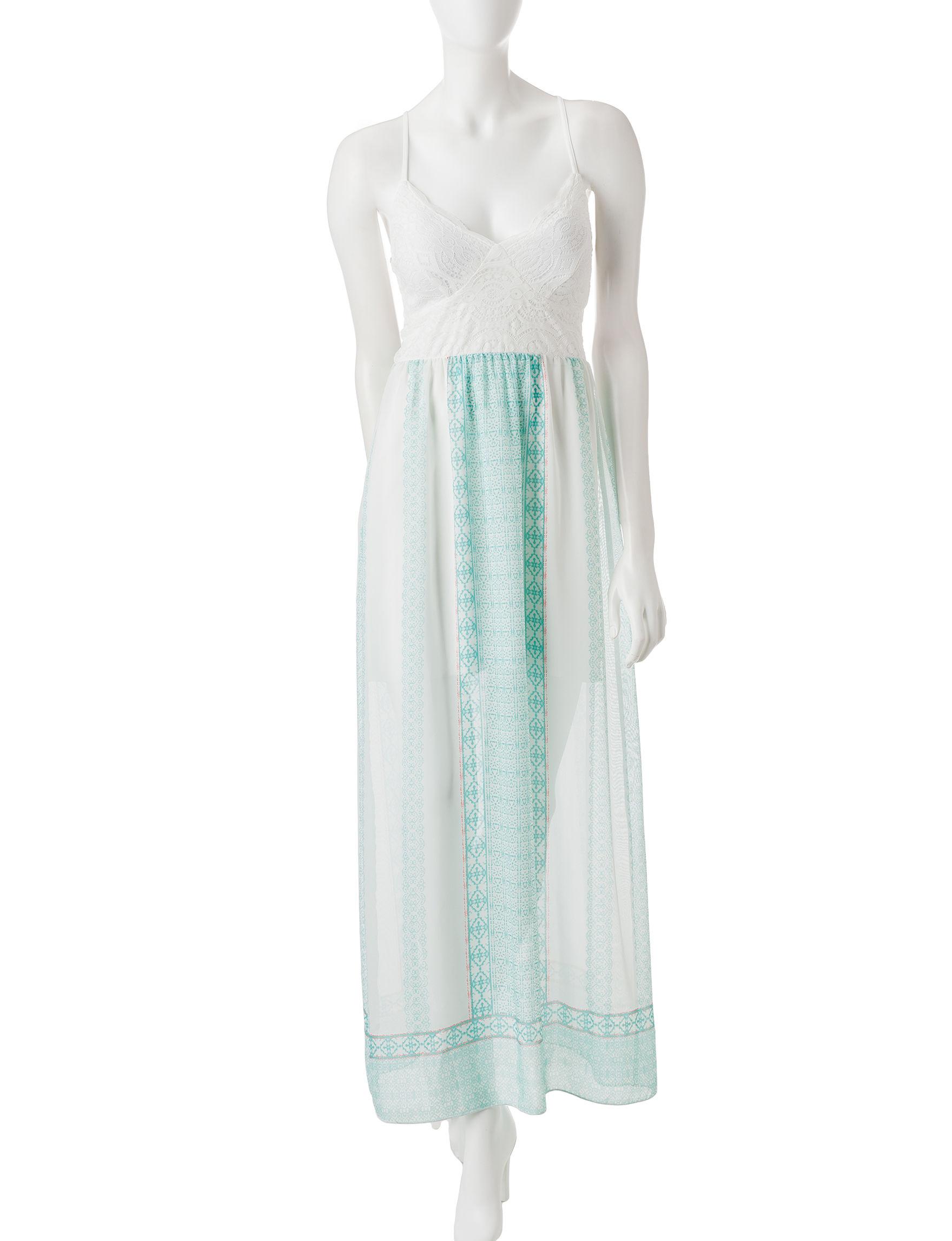 Trixxi White / Blue Everyday & Casual Sundresses