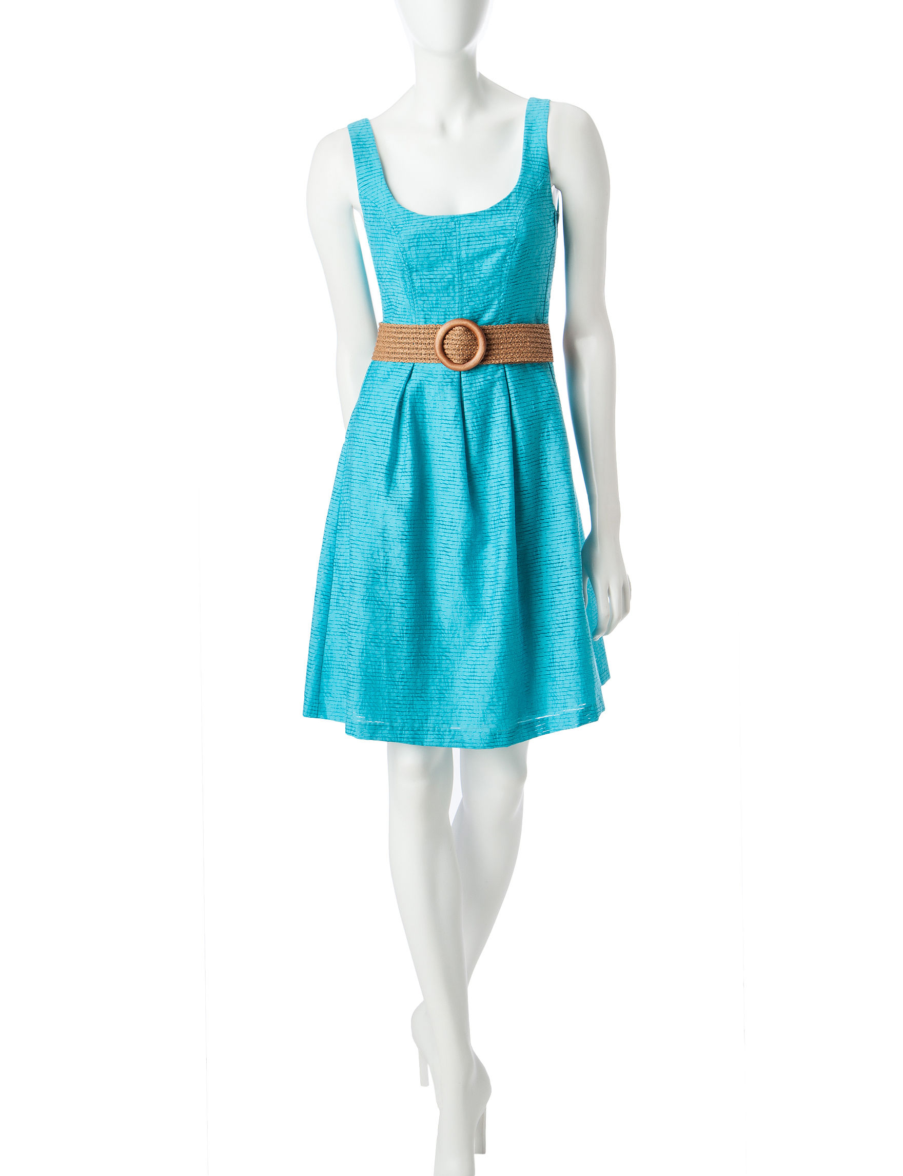 Nine West Turqouise Everyday & Casual A-line Dresses