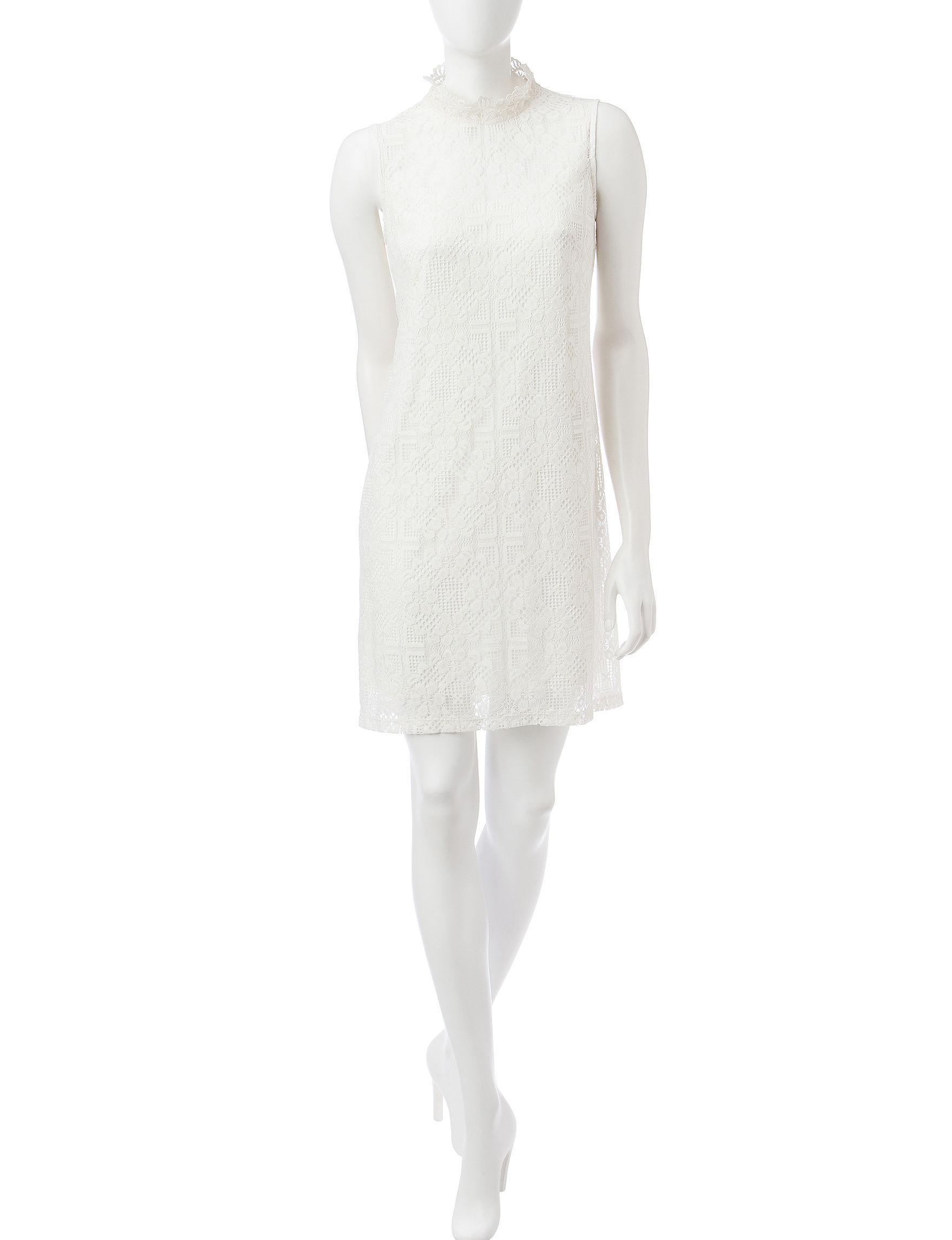 Ronni Nicole Ivory Everyday & Casual Sheath Dresses