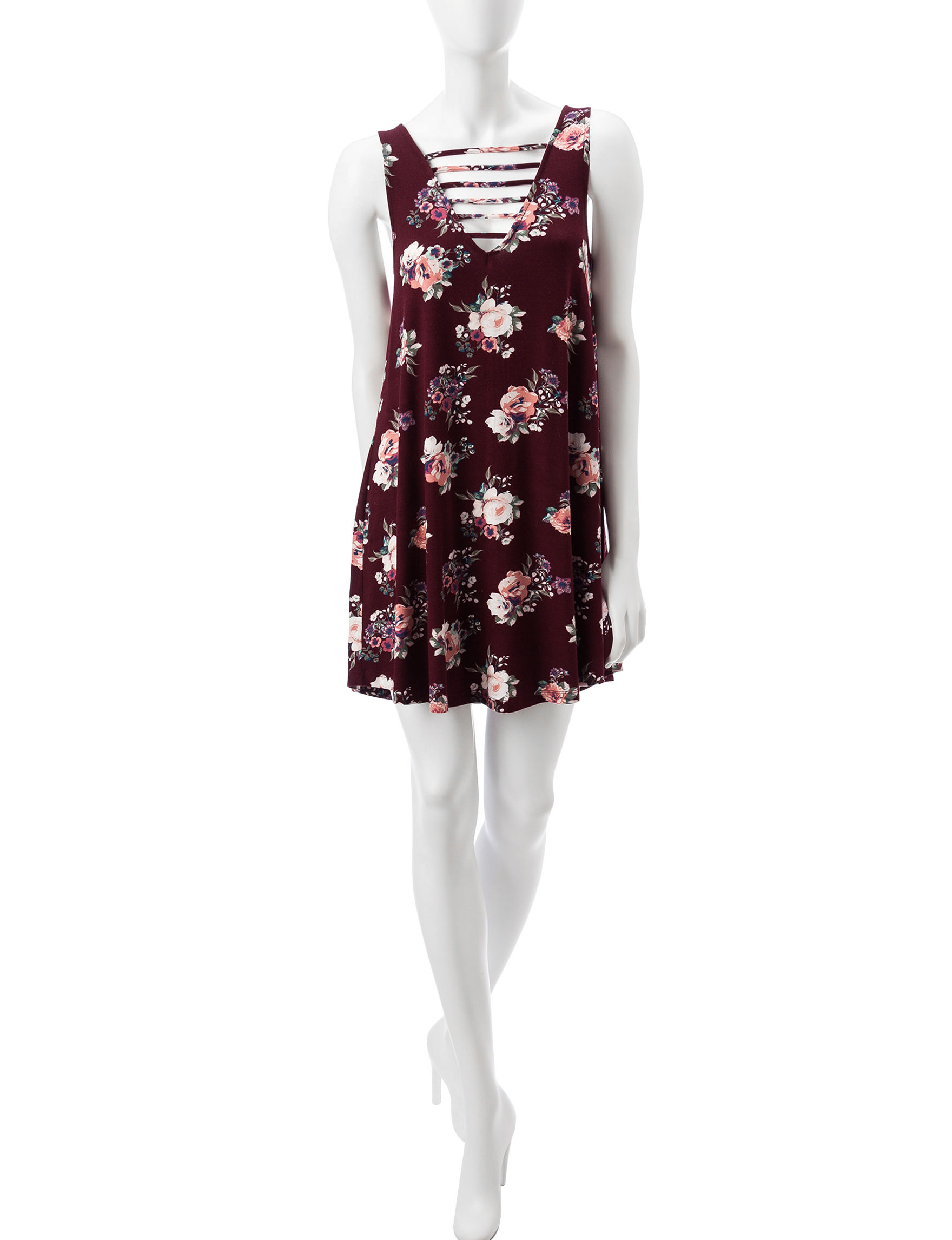 Wishful Park Burgundy Everyday & Casual Shift Dresses