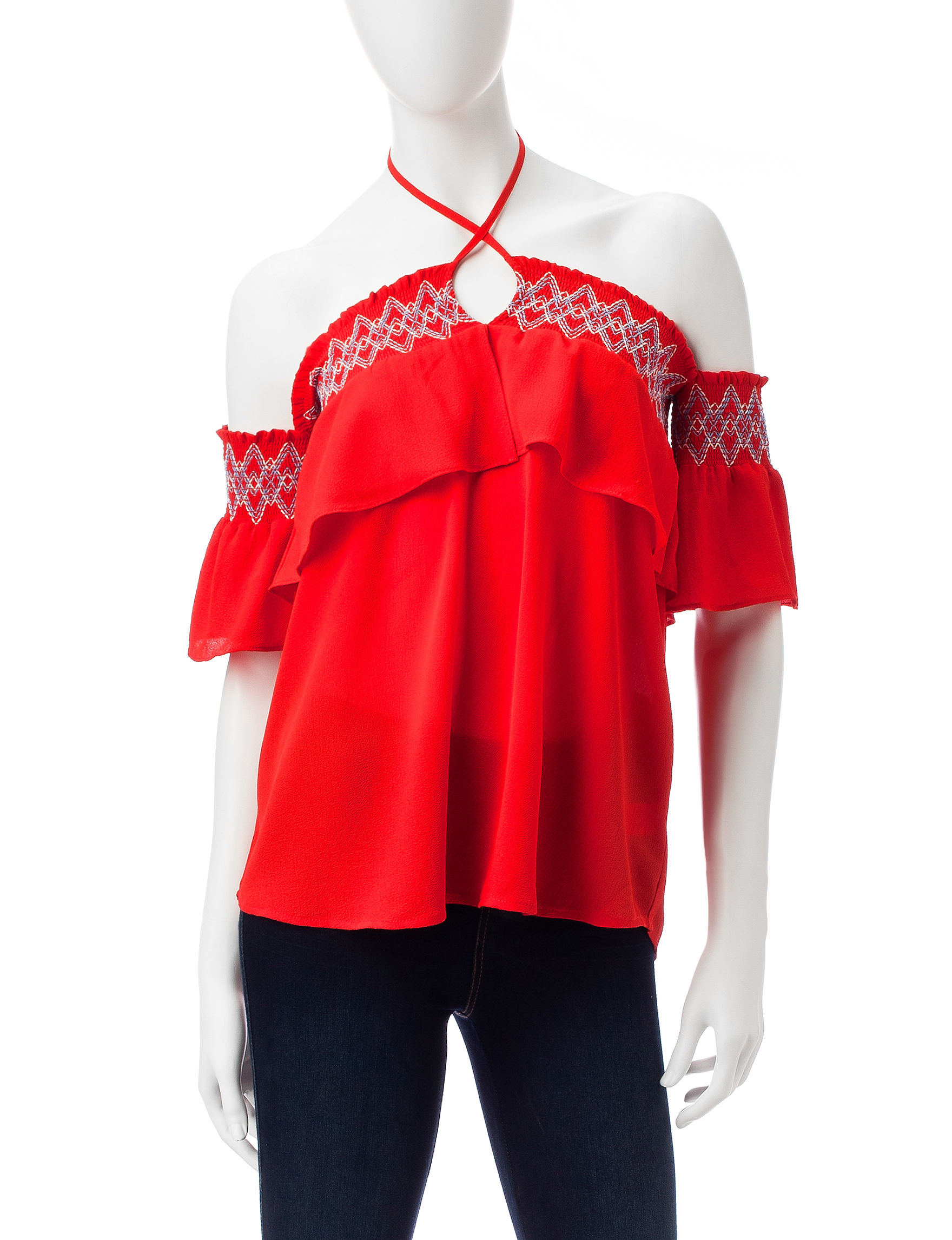 Heart Soul Orange Shirts & Blouses
