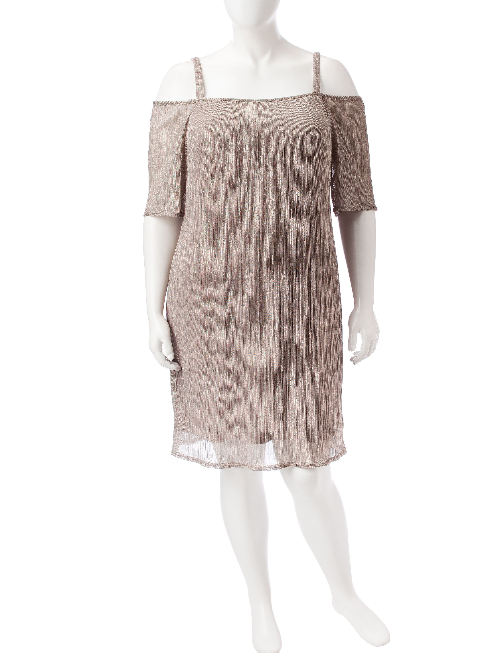 R & M Richards Gold Cocktail & Party Evening & Formal Sheath Dresses