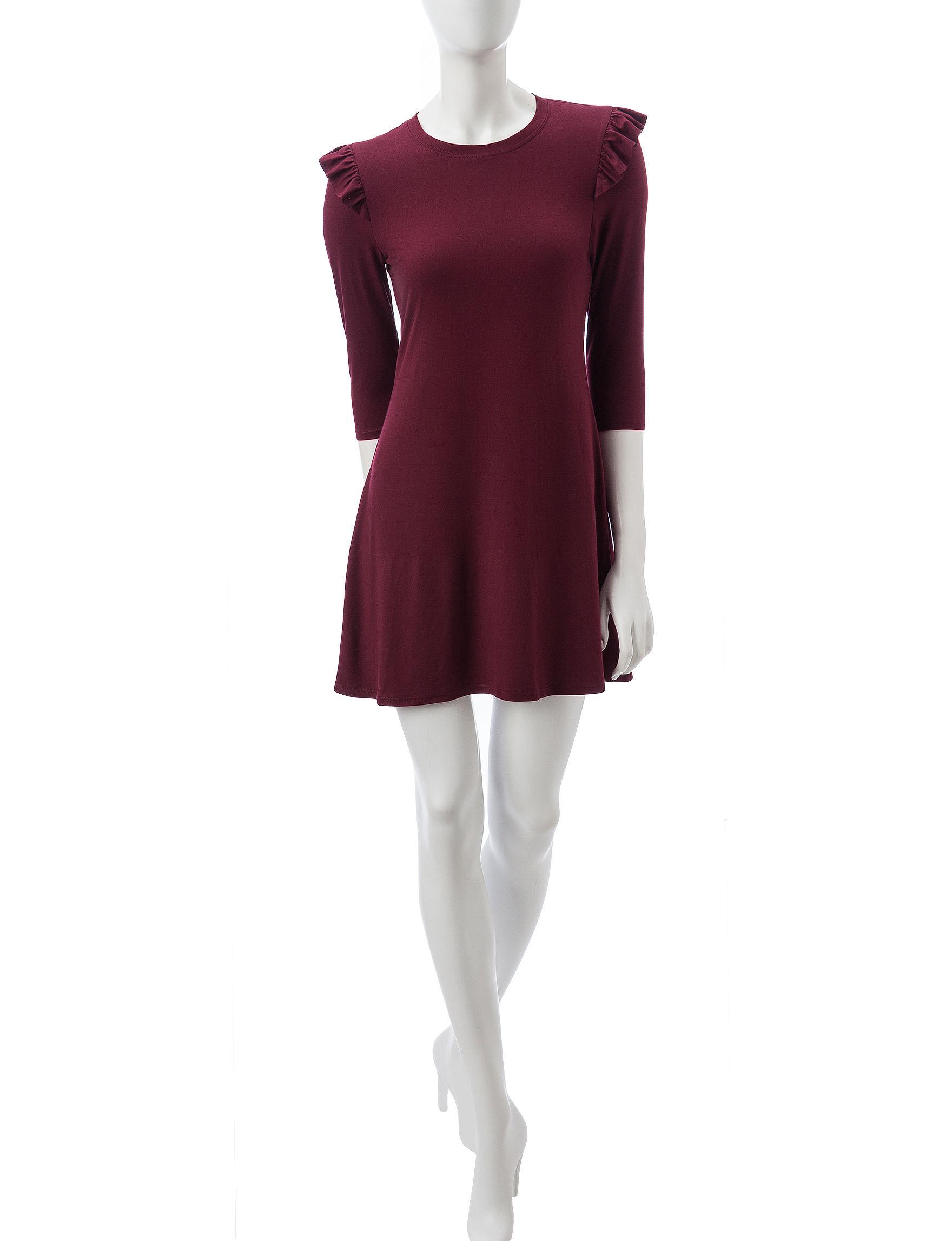 BeBop Wine Everyday & Casual Shift Dresses