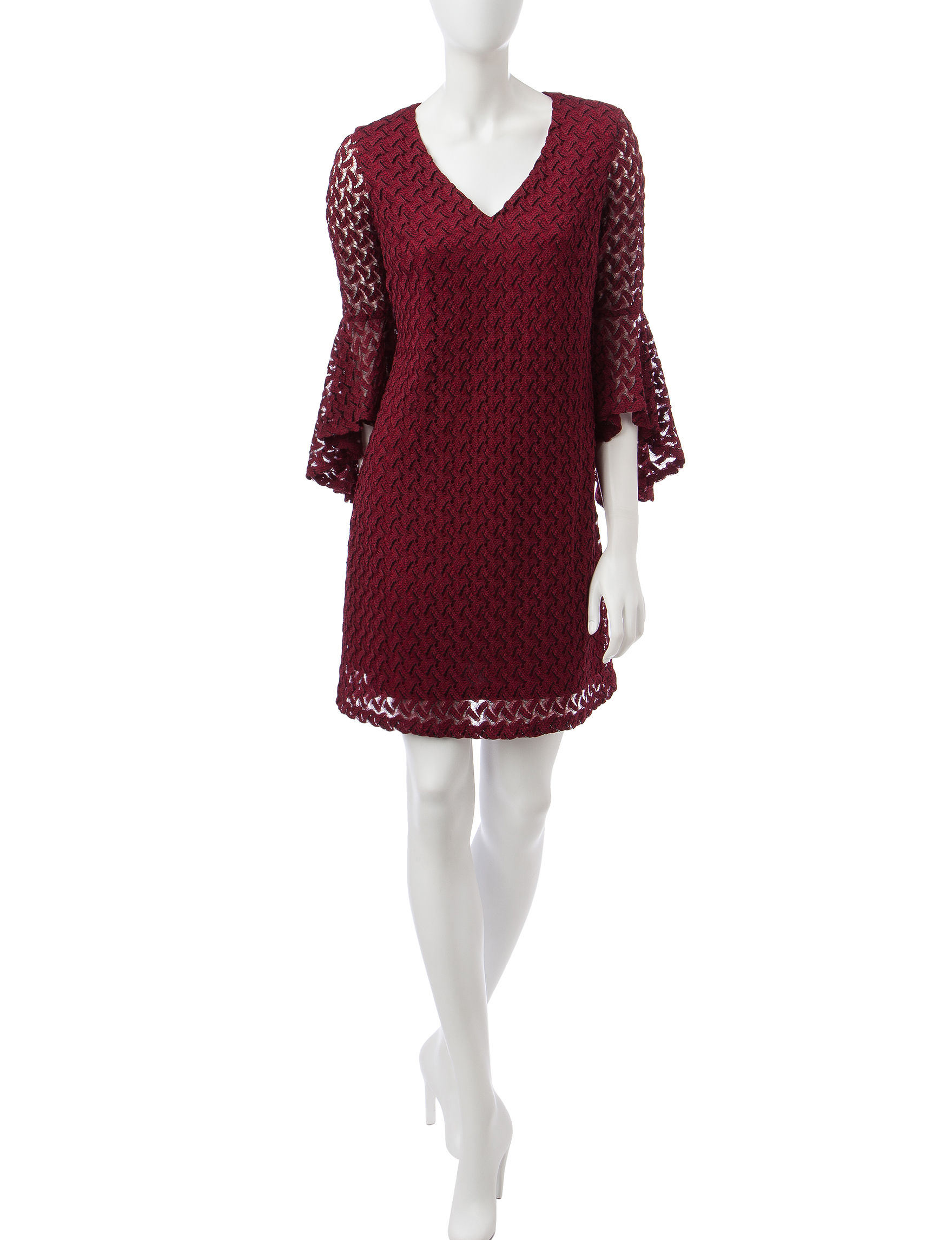 Madison Leigh Wine Everyday & Casual Shift Dresses