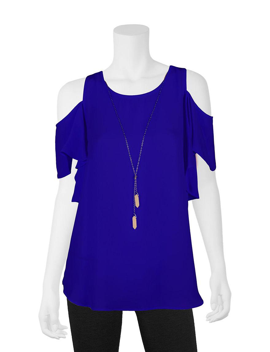 A. Byer Blue Shirts & Blouses