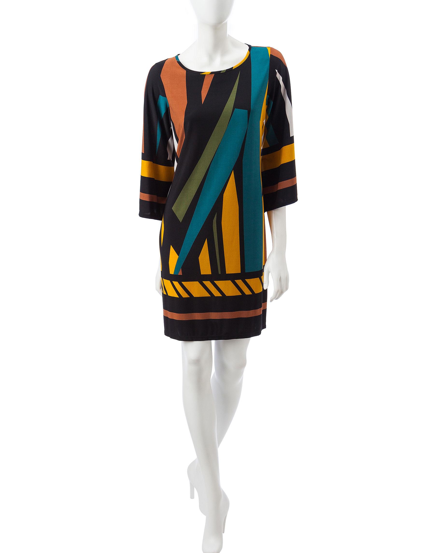 MSK Black / Multi Everyday & Casual Shift Dresses