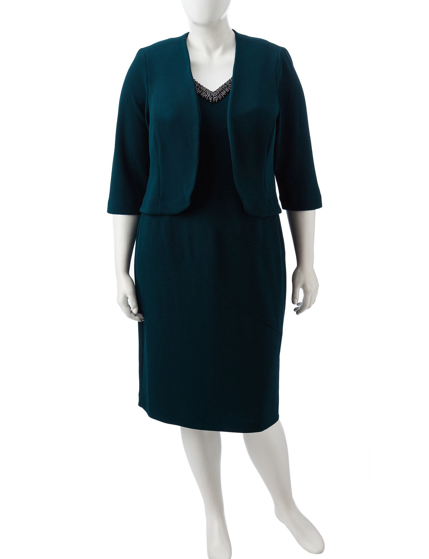 Maya Brooke Hunter Green Everyday & Casual Jacket Dresses