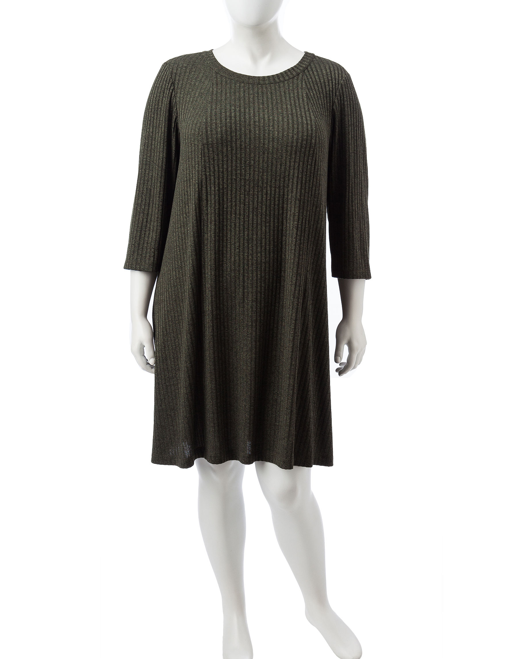 Perceptions Olive Everyday & Casual Shift Dresses