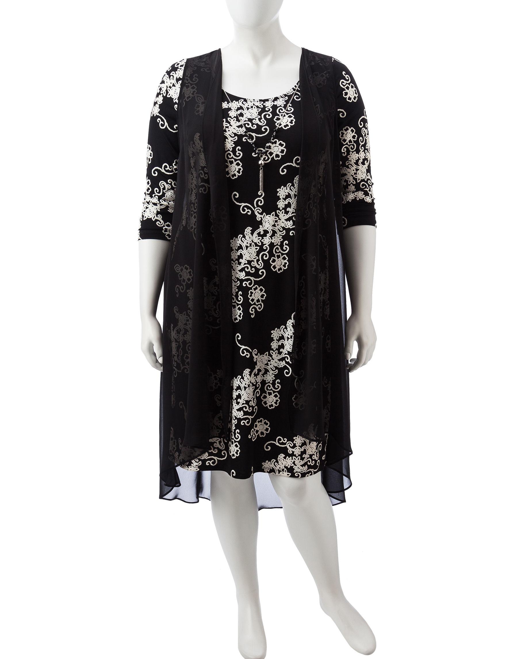 Glamour Black / White Everyday & Casual Jacket Dresses