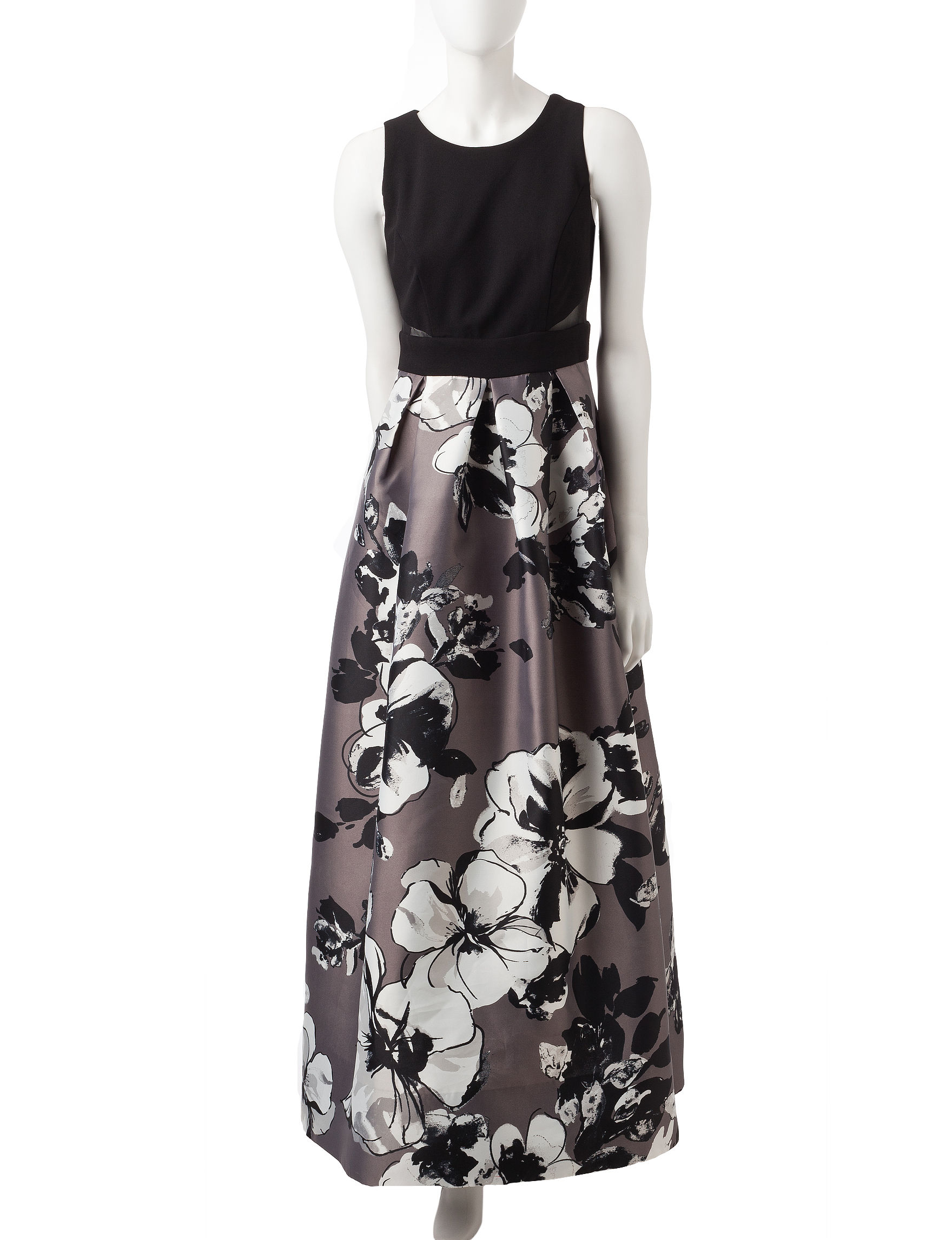 Sangria Black Cocktail & Party Evening & Formal A-line Dresses Fit & Flare Dresses