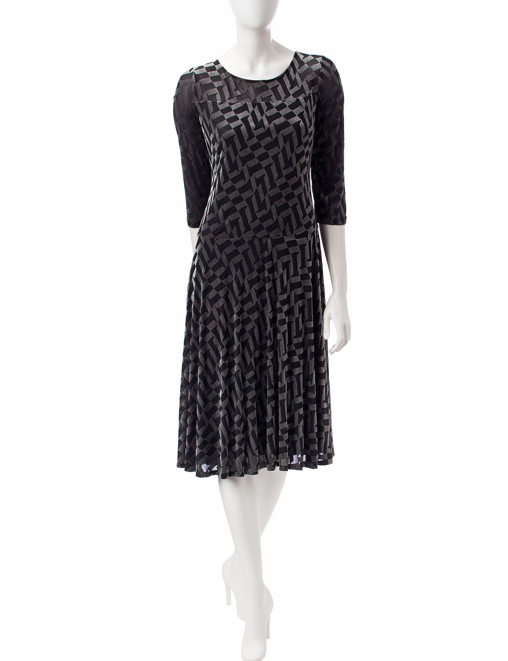 Perceptions Black Everyday & Casual A-line Dresses