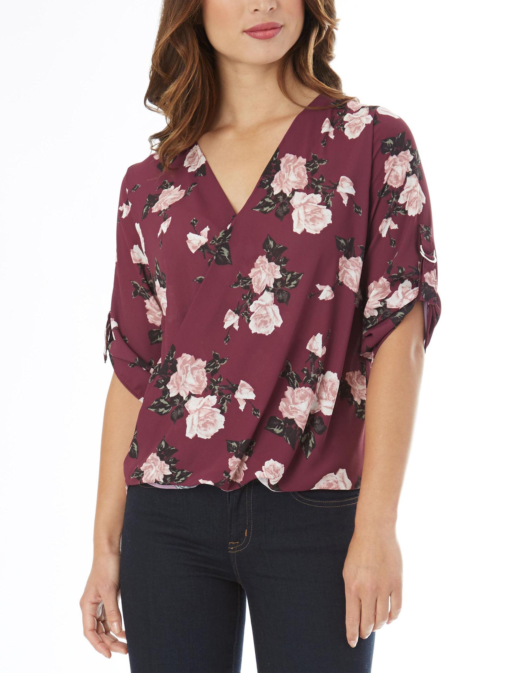 A. Byer Burgundy Shirts & Blouses