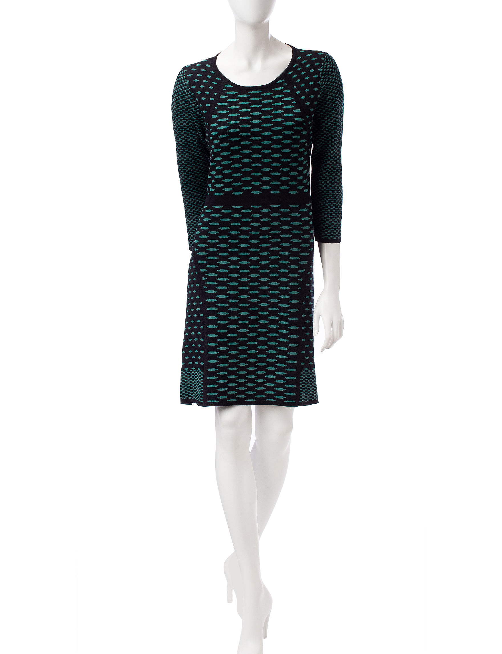 Nine West Blue Everyday & Casual Sweater Dresses